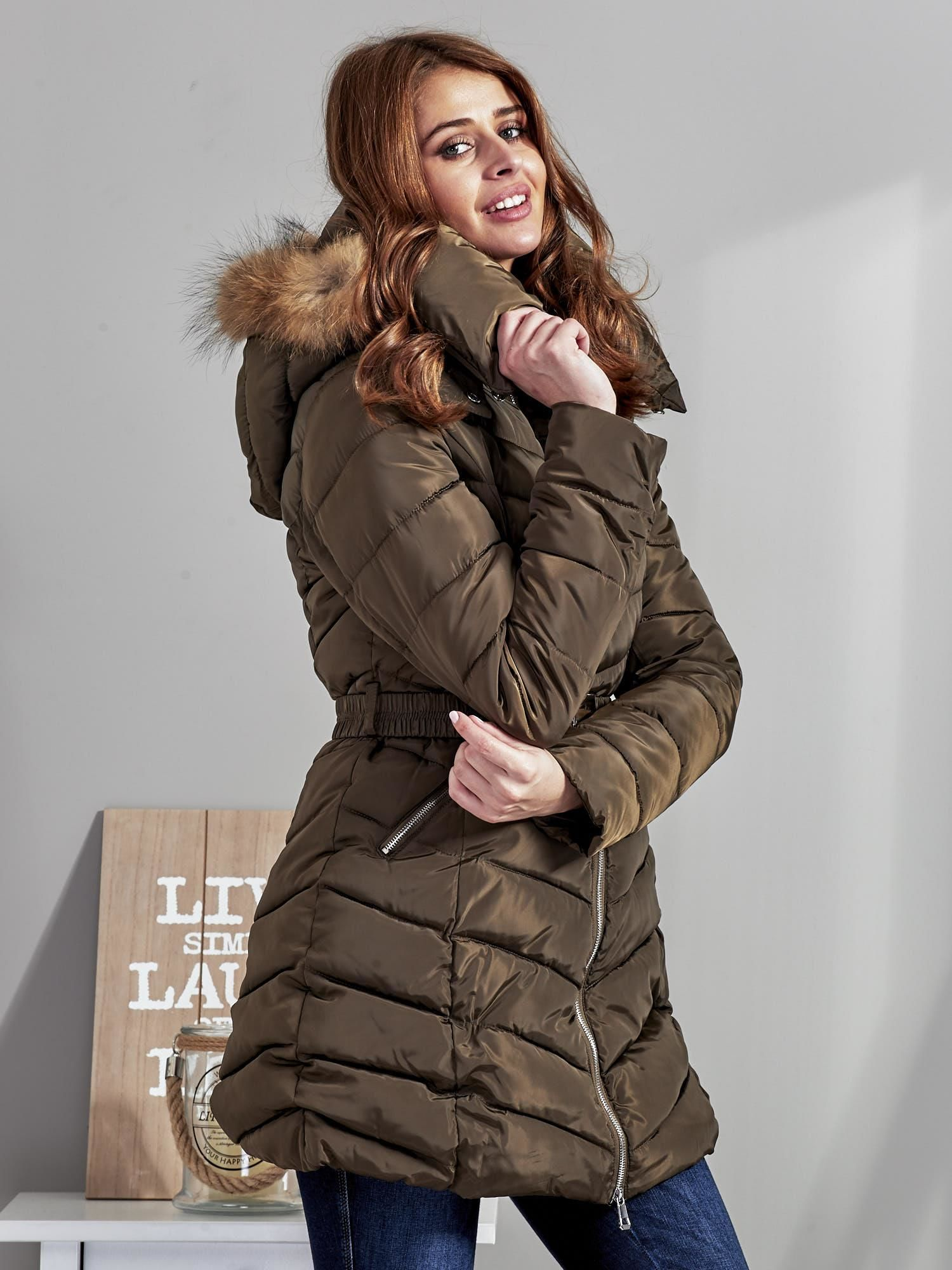 Zobacz zdjęcie: Ekskluzywny pikowany damski plaszcz CAMEL roz S - imgED.