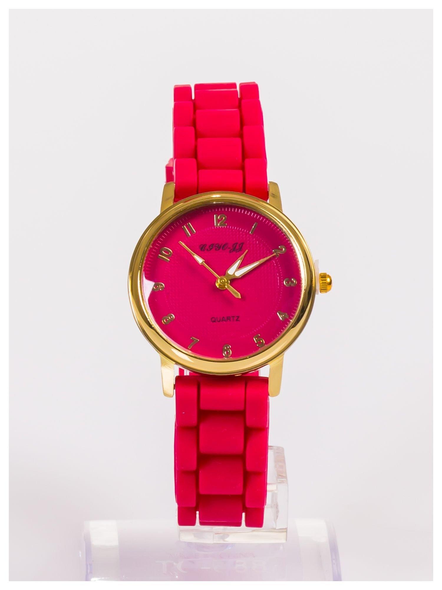 Klasyczny damski zegarek na wygodnym silikonowym pasku                                  zdj.                                  1