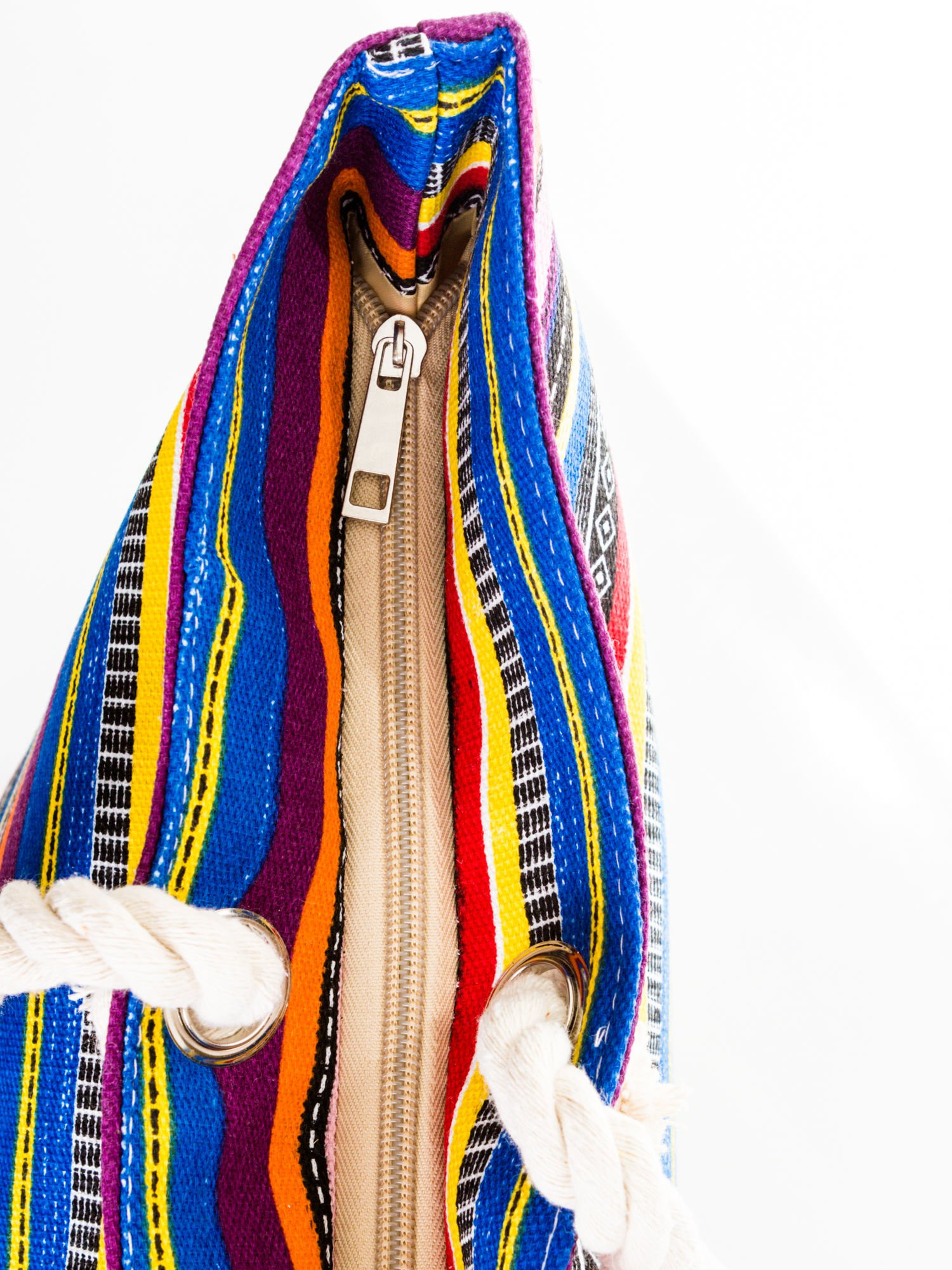 Kolorowa torba plażowa w paski                                  zdj.                                  7
