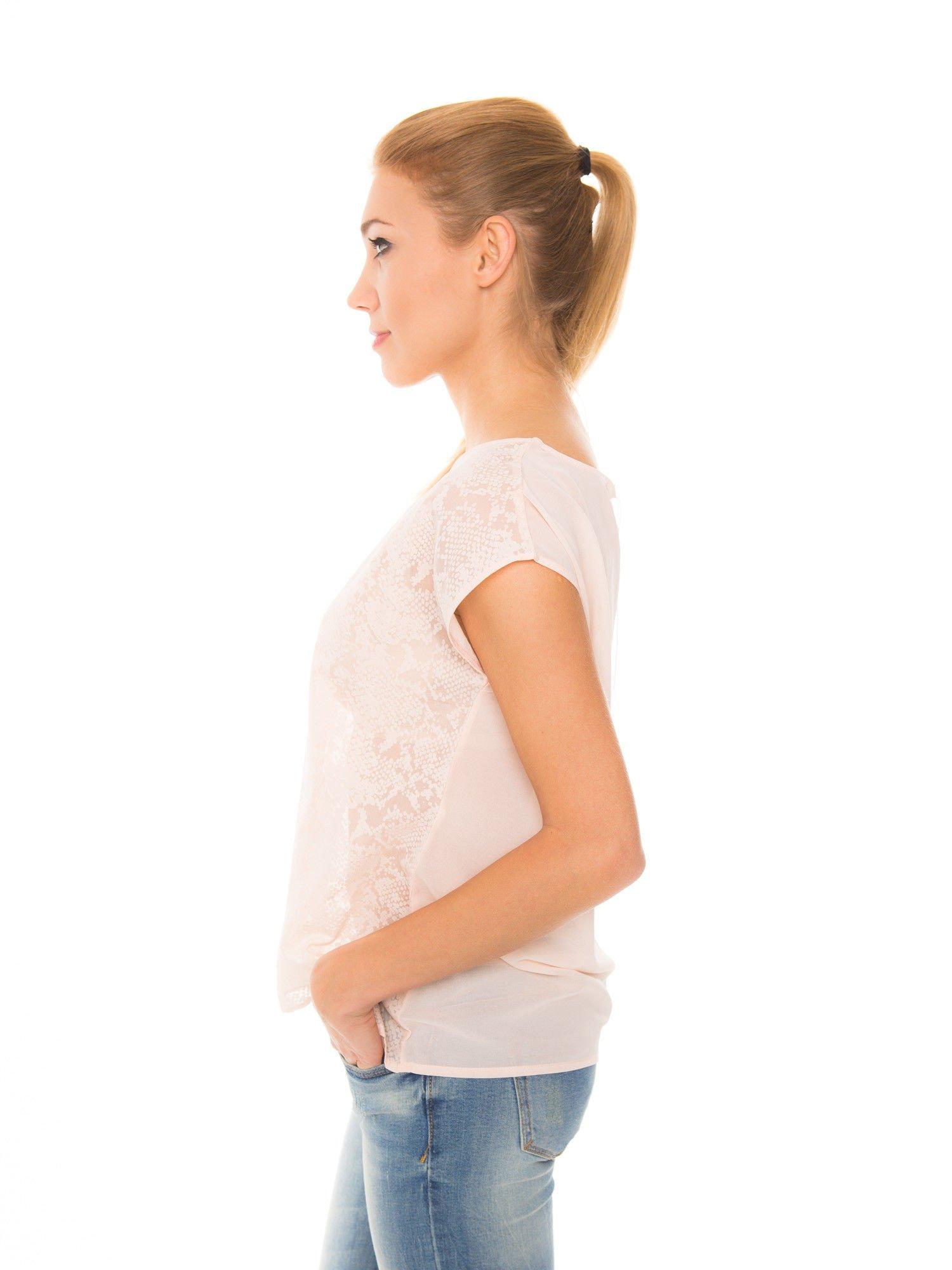 Koralowa transparentna koszula                                  zdj.                                  5