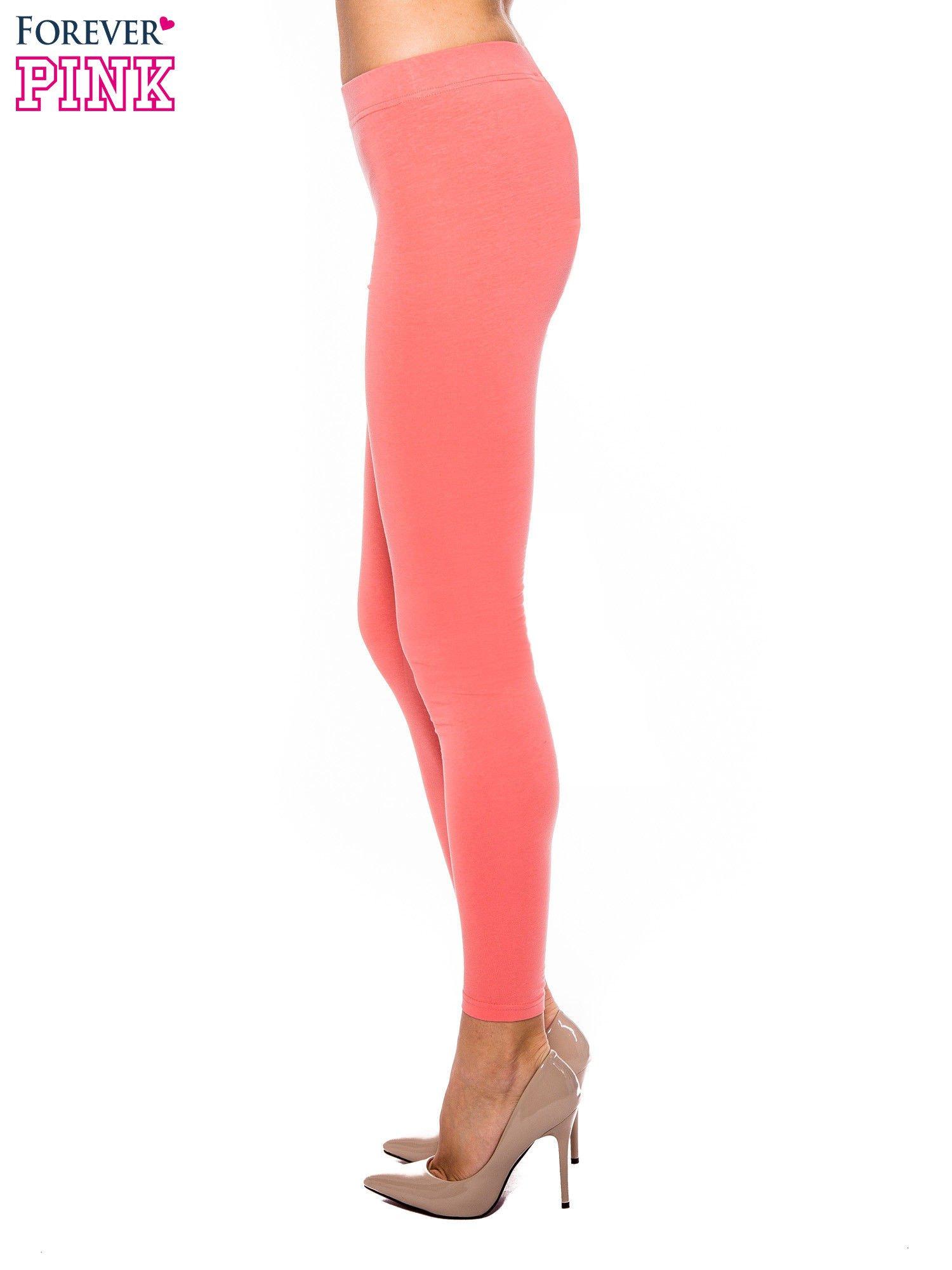 Koralowe legginsy z bawełny                                  zdj.                                  2