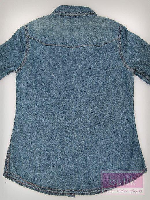 Koszula jeansowa z nakładkami                                   zdj.                                  5