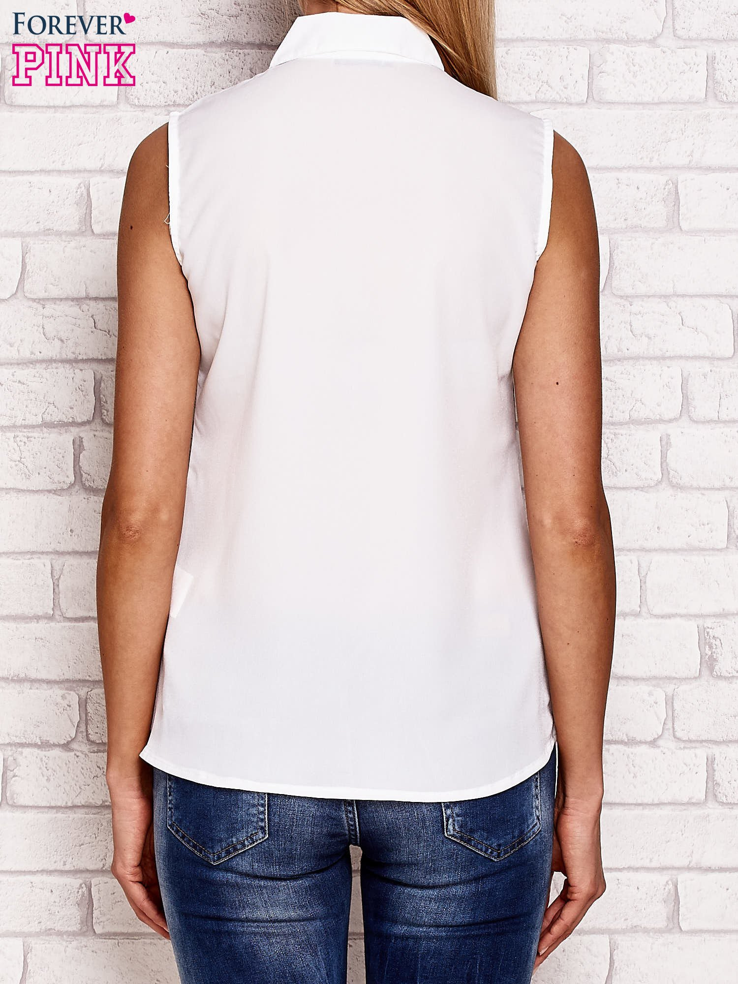 Koszula z kwiatowym motywem biała