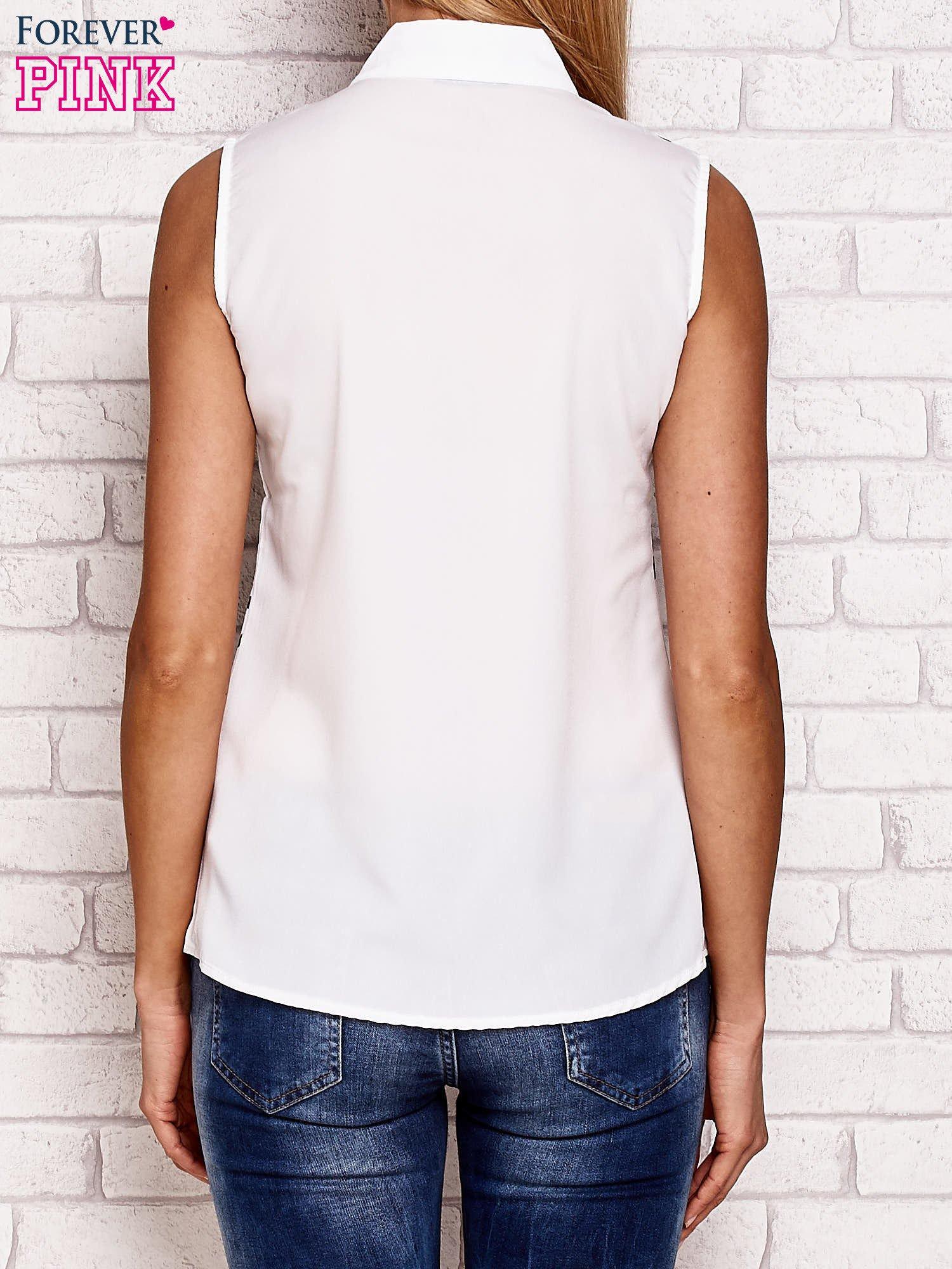Koszula z miejskim motywem biała