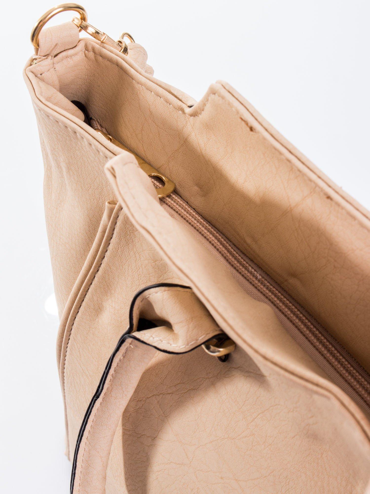 Kremowa torba shopper bag                                  zdj.                                  8