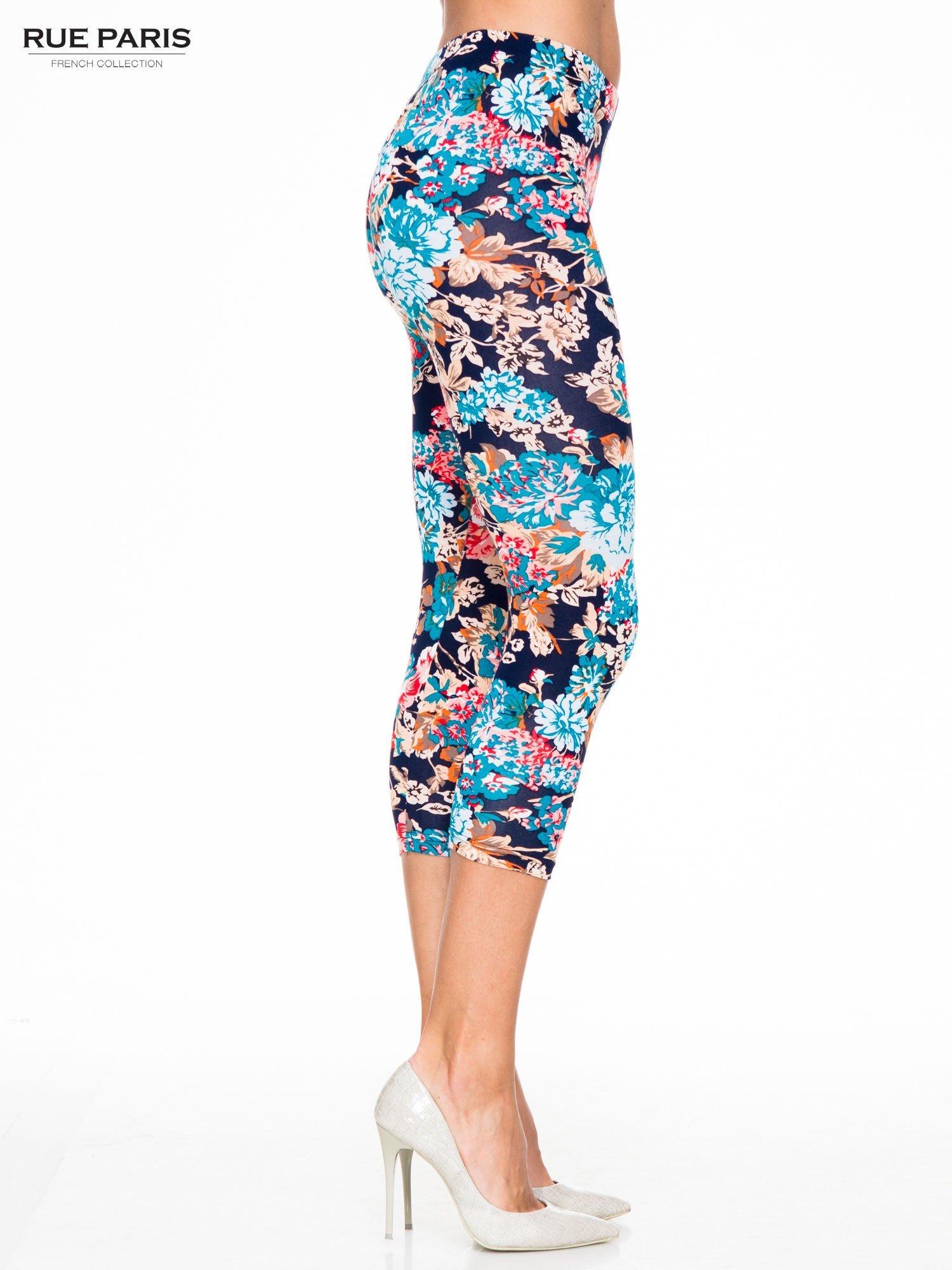 Kwiatowe legginsy długości 3/4                                  zdj.                                  3