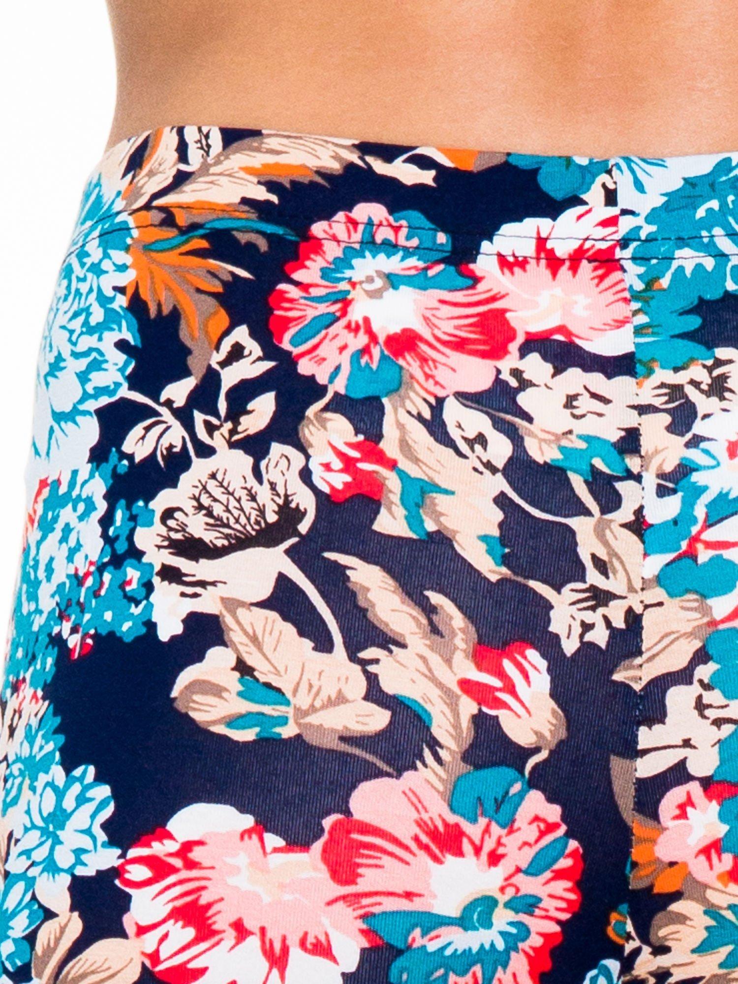 Kwiatowe legginsy długości 3/4                                  zdj.                                  6