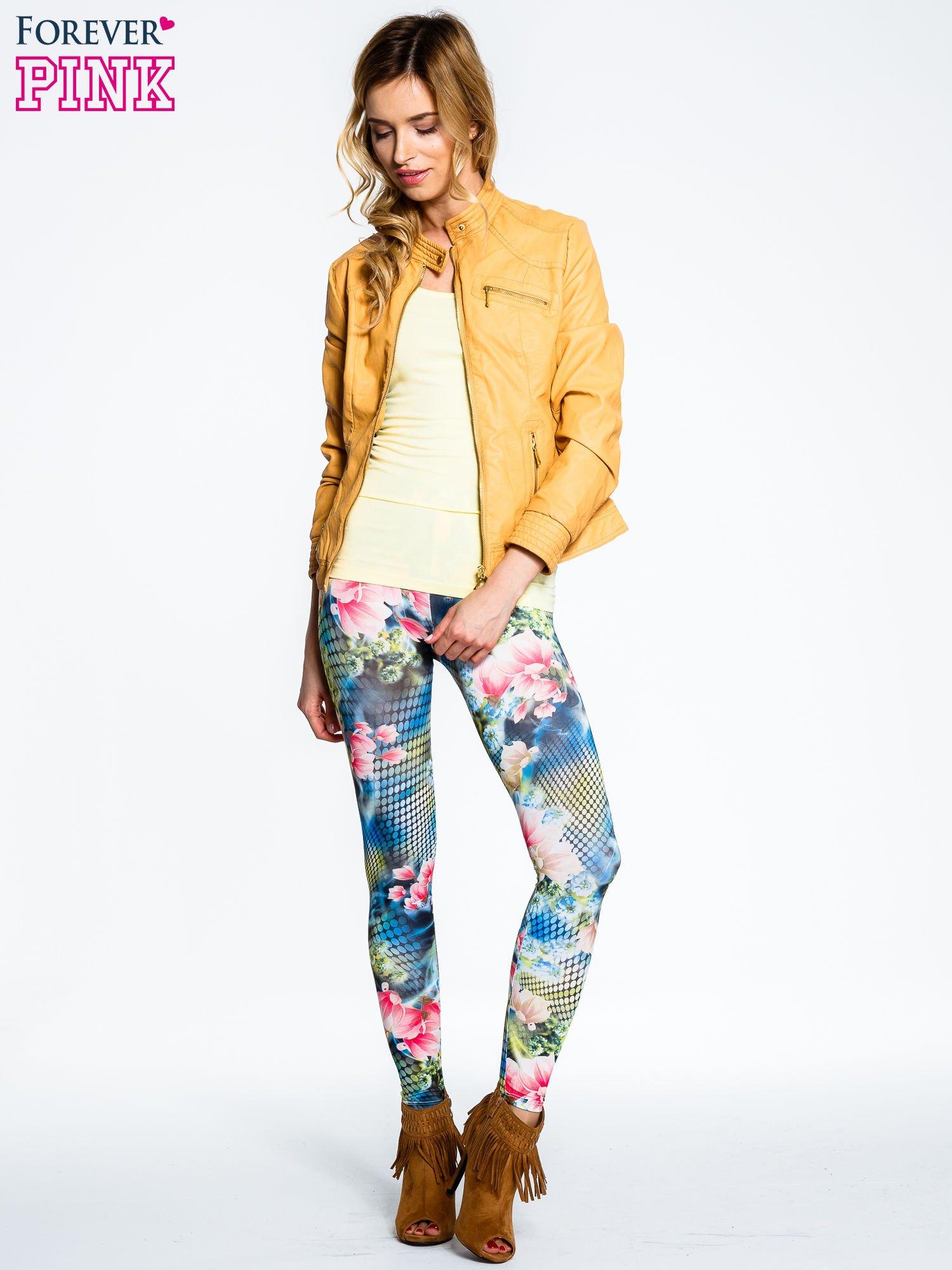 Kwiatowe legginsy z motywem floral print                                  zdj.                                  4