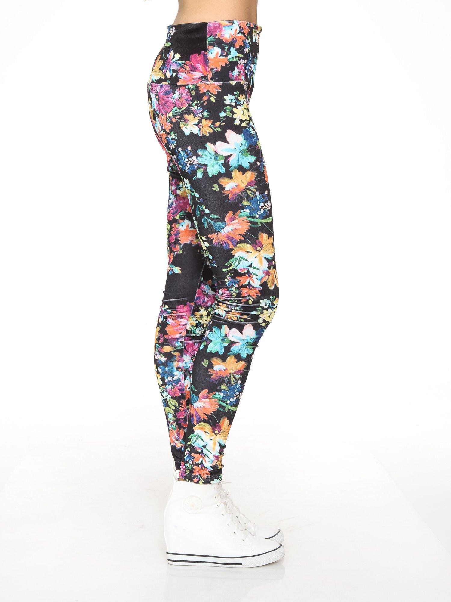Kwiatowe legginsy z wysokim stanem                                  zdj.                                  3