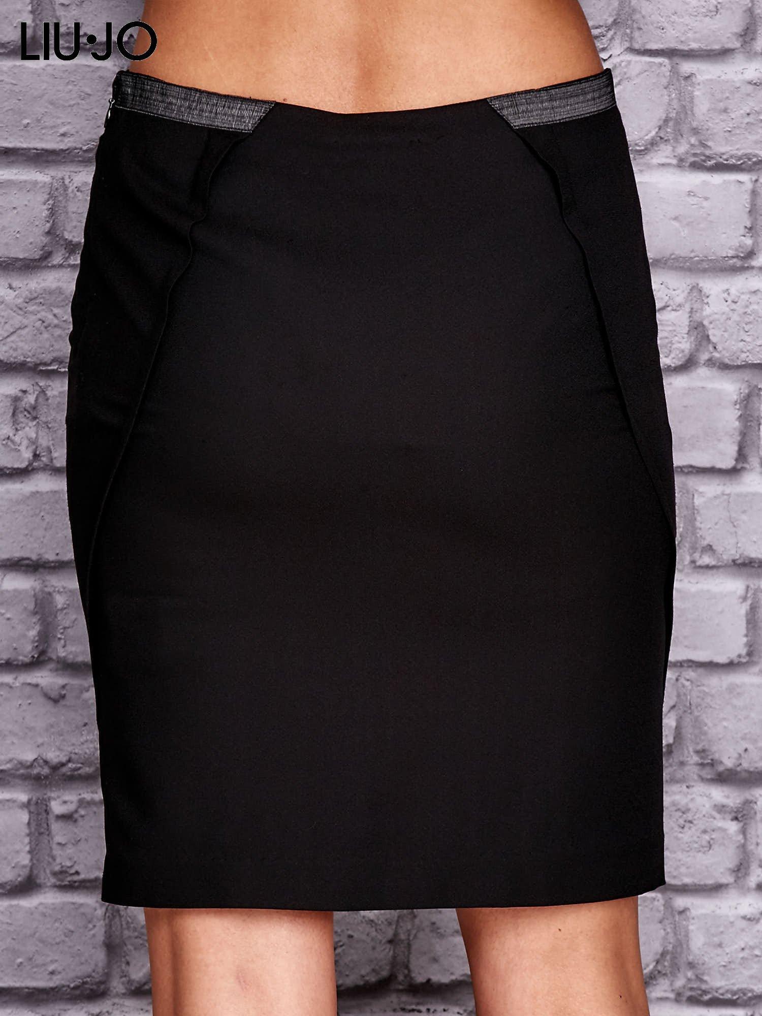 LIU JO Czarna spódnica z zakładkami