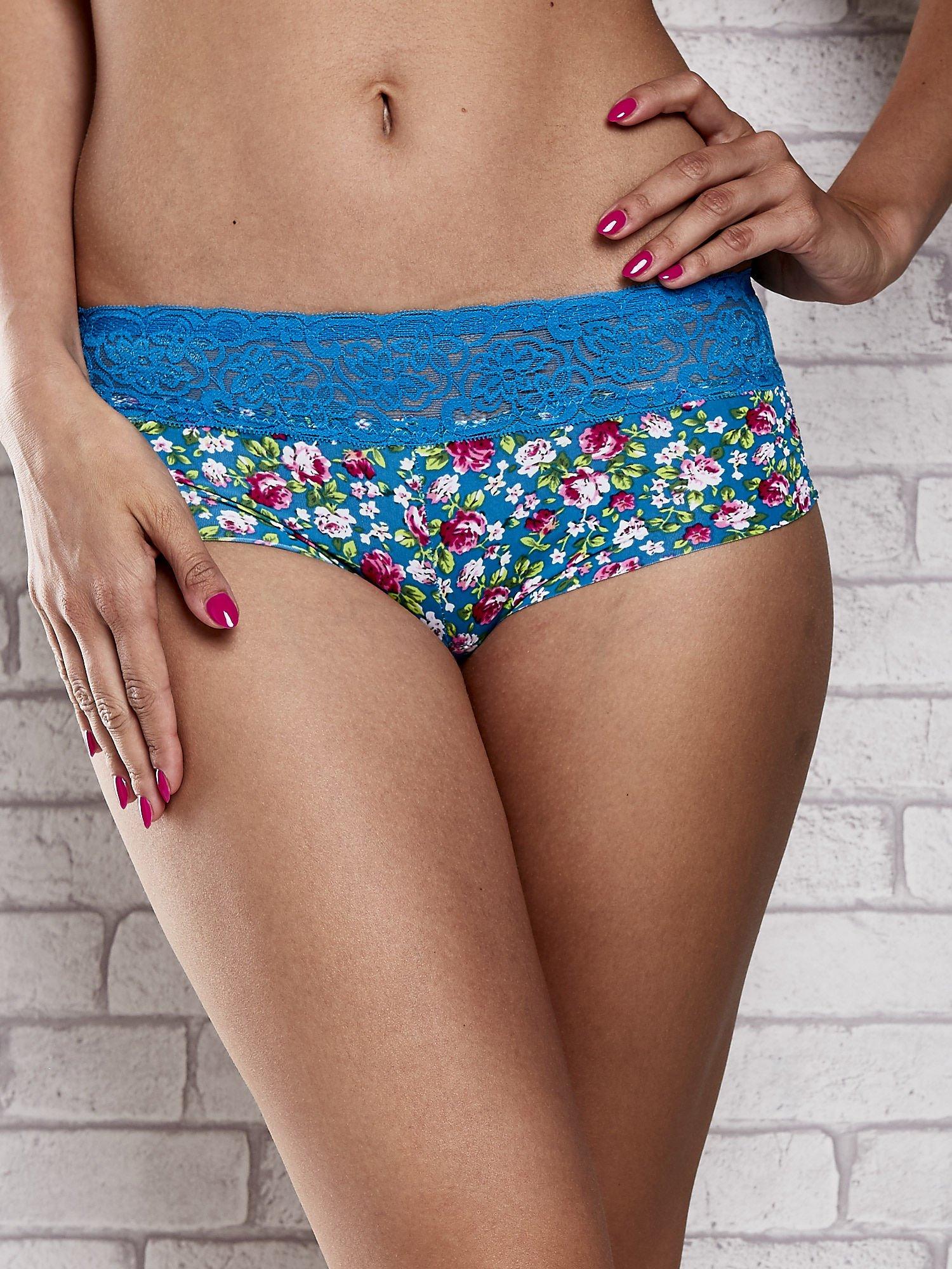 Laserowe szorty damskie z motywem florar print 2 szt.                                   zdj.                                  2