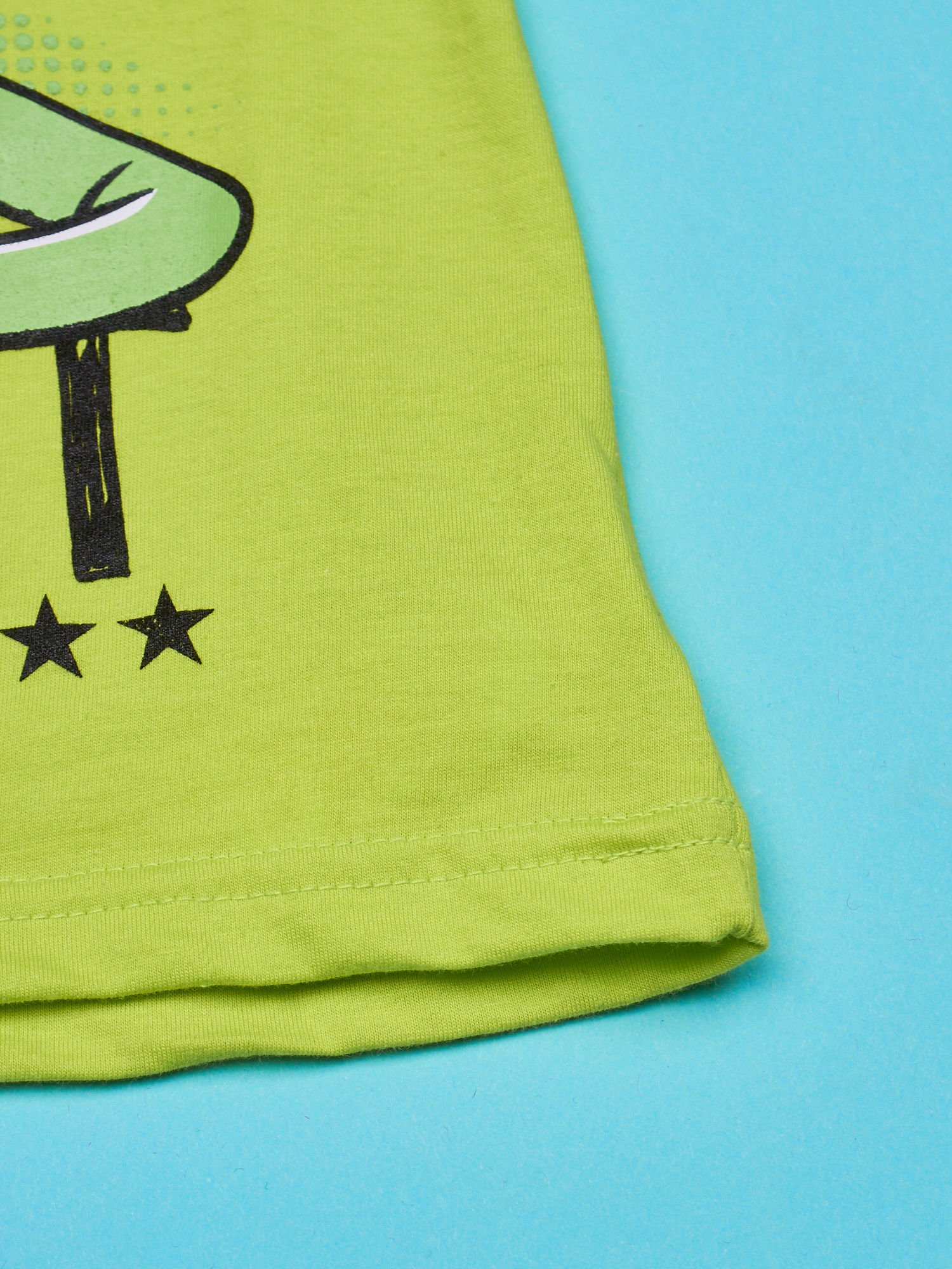 Limonkowy t-shirt chłopięcy z nadrukiem MUPPETY                                  zdj.                                  5