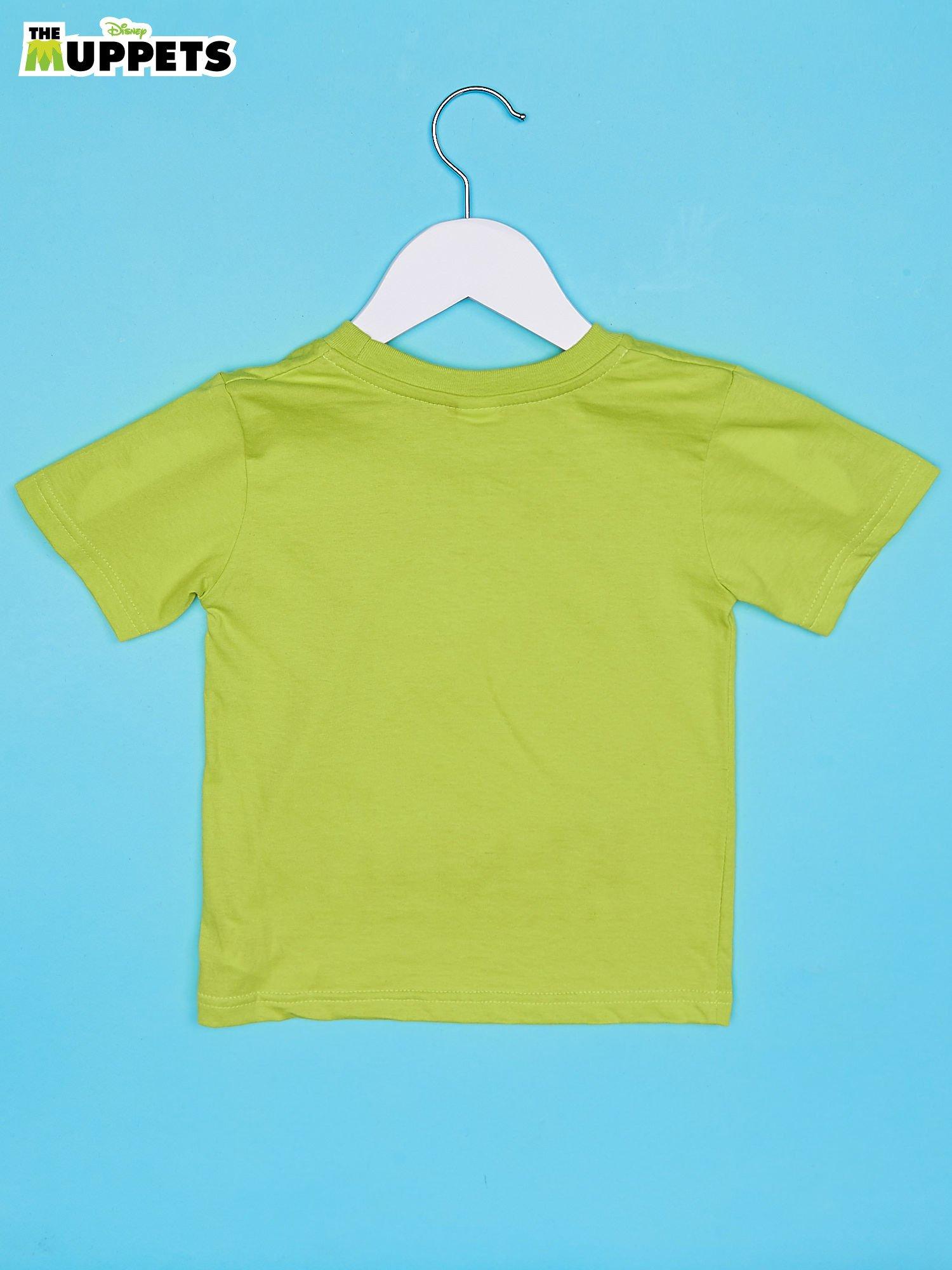 Limonkowy t-shirt chłopięcy z nadrukiem MUPPETY                                  zdj.                                  2