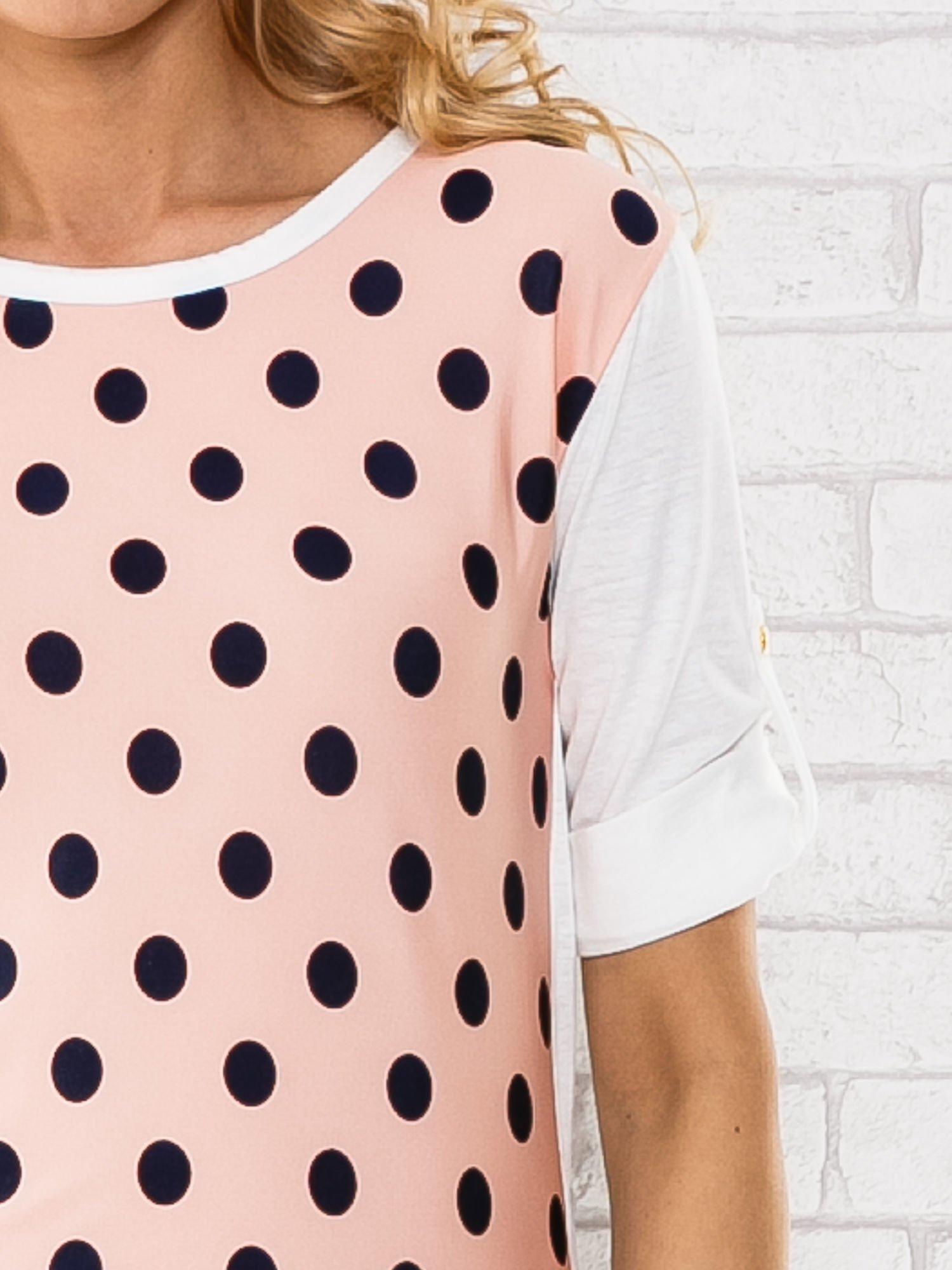 Łososiowa bluzka w groszki                                  zdj.                                  5