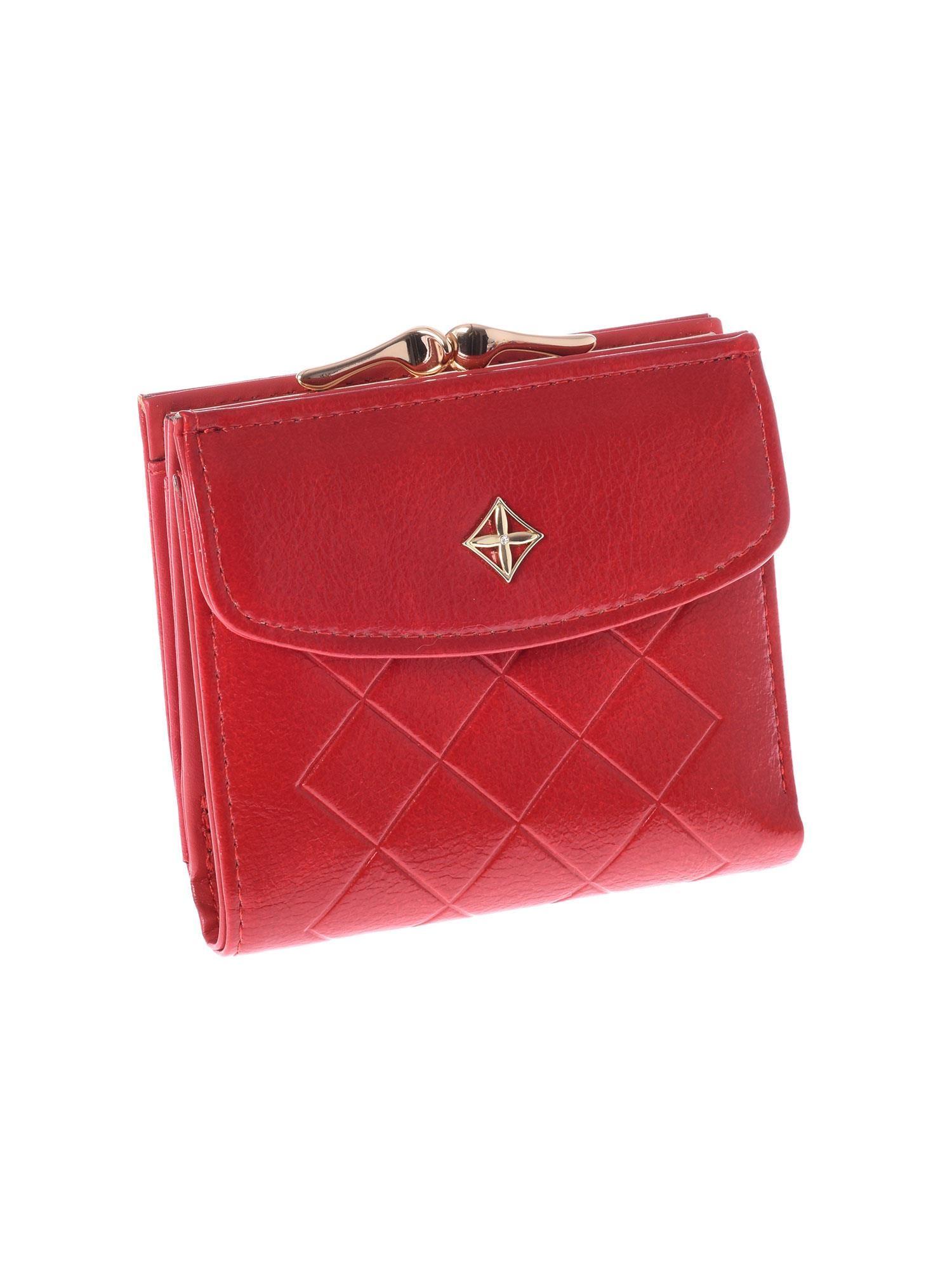 d32d1abe096d5 Mały elegancki czerwony portfel damski na bigiel - Akcesoria ...