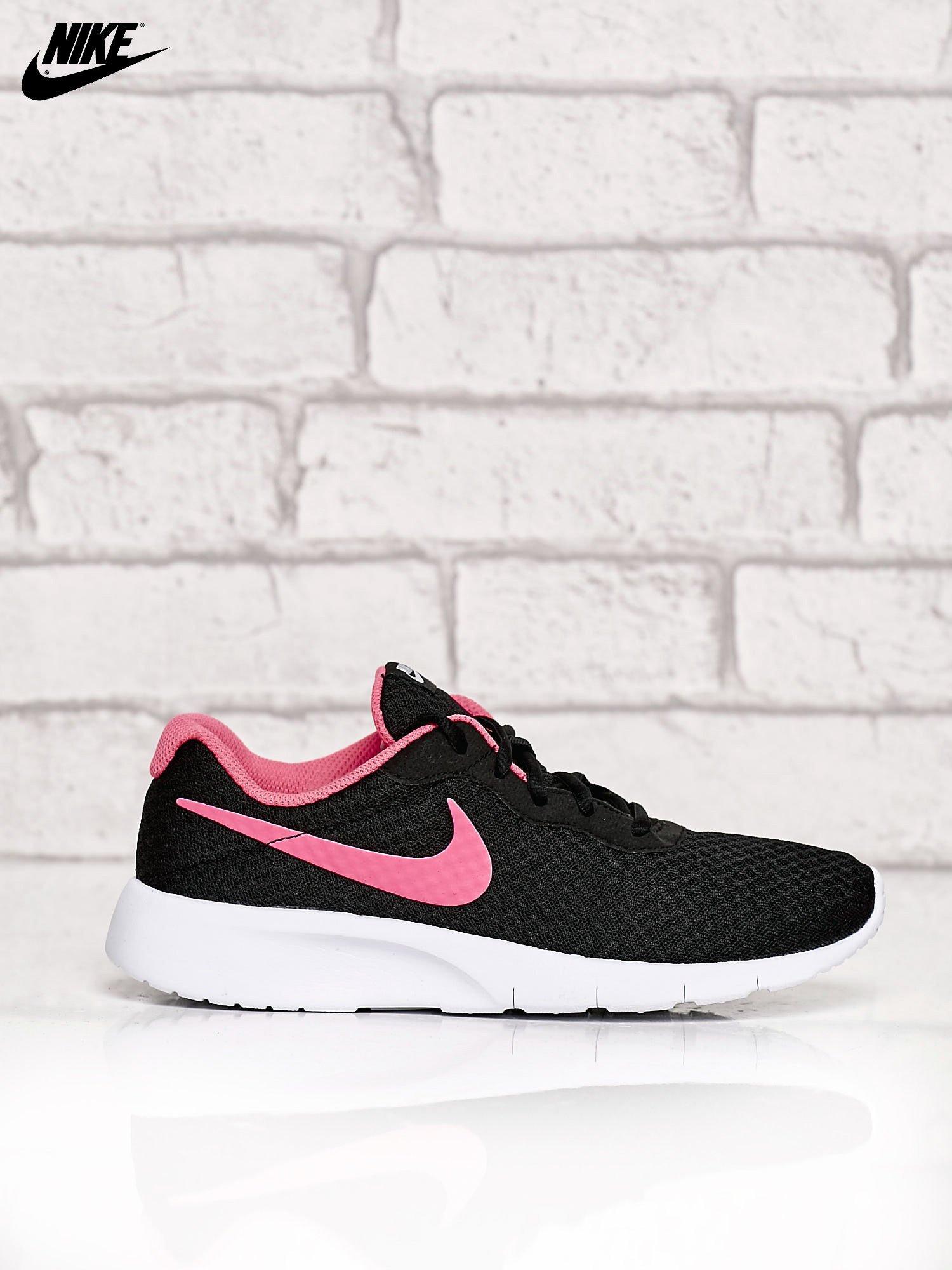 dostępność w Wielkiej Brytanii sprawdzić nowe style NIKE czarne buty sportowe Tanjun GS z siateczką
