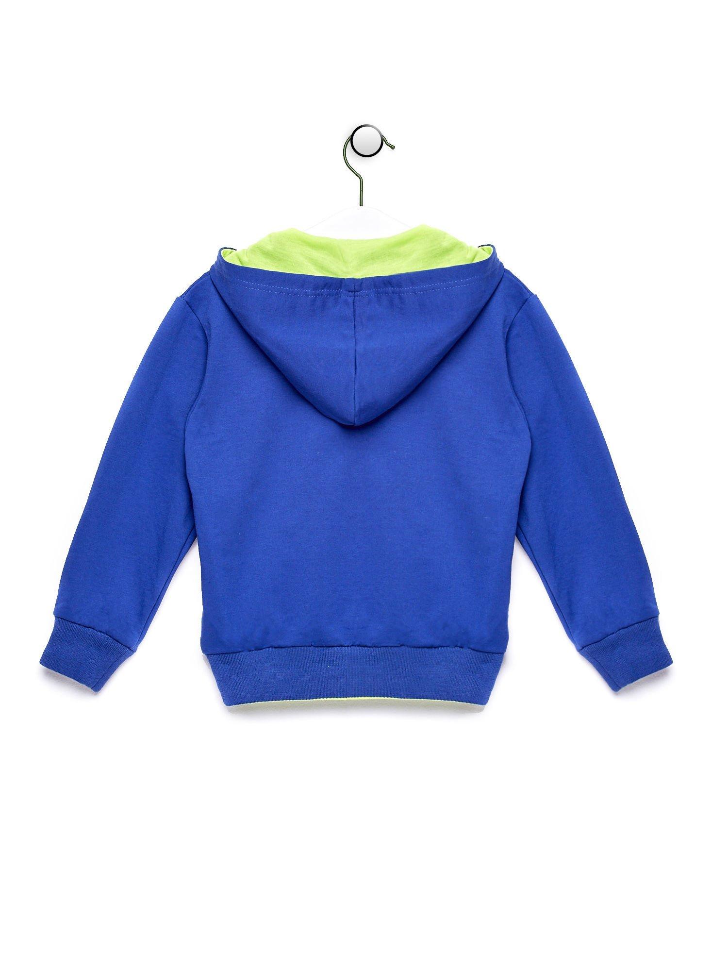 Niebieska bluza chłopięca z napisem HOLLY WEEK