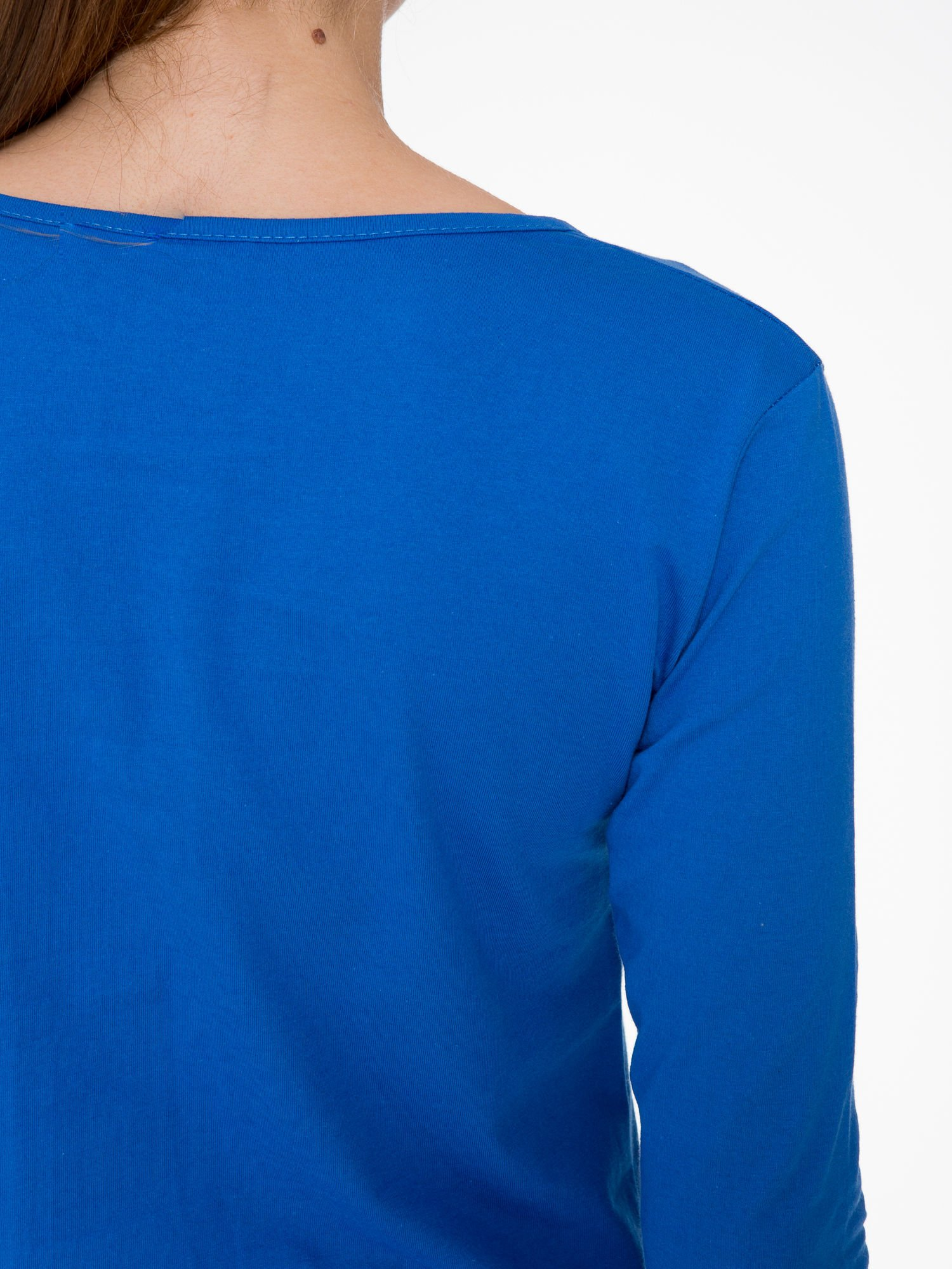 Niebieska bluzka z nadrukiem loga Instagrama                                  zdj.                                  7