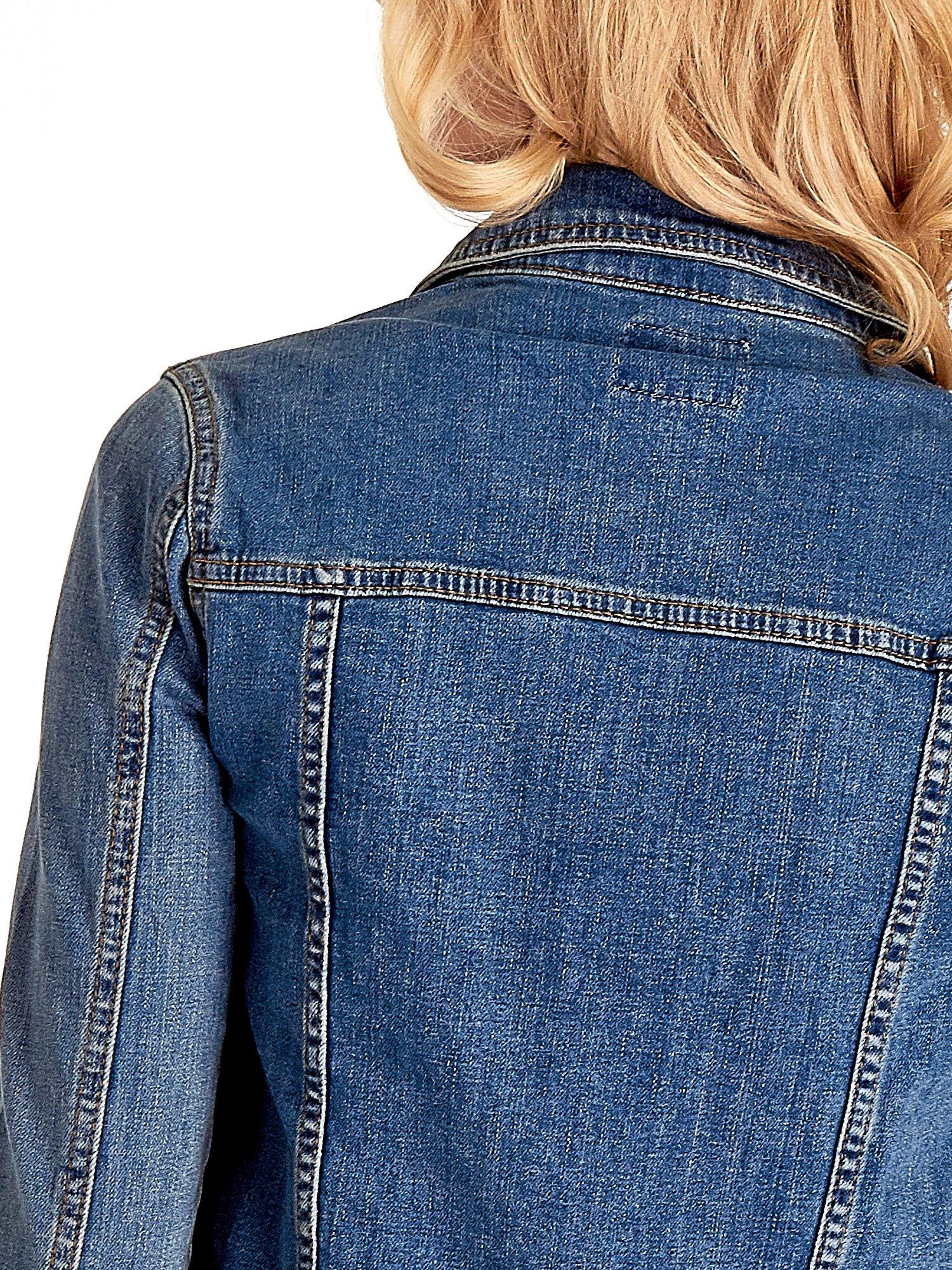 Niebieska klasyczna kurtka jeansowa damska                                  zdj.                                  7