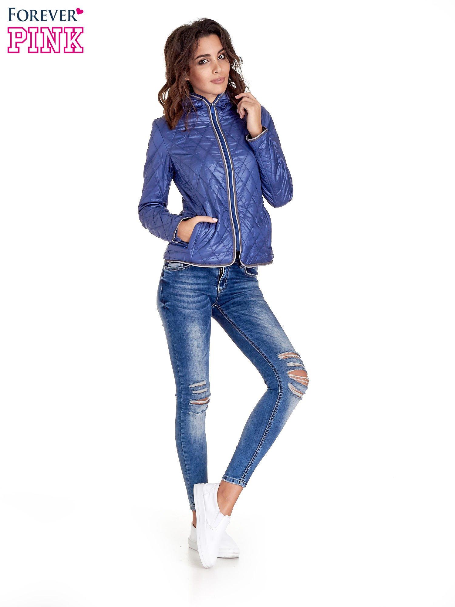 Niebieska pikowana kurtka typu husky                                  zdj.                                  9