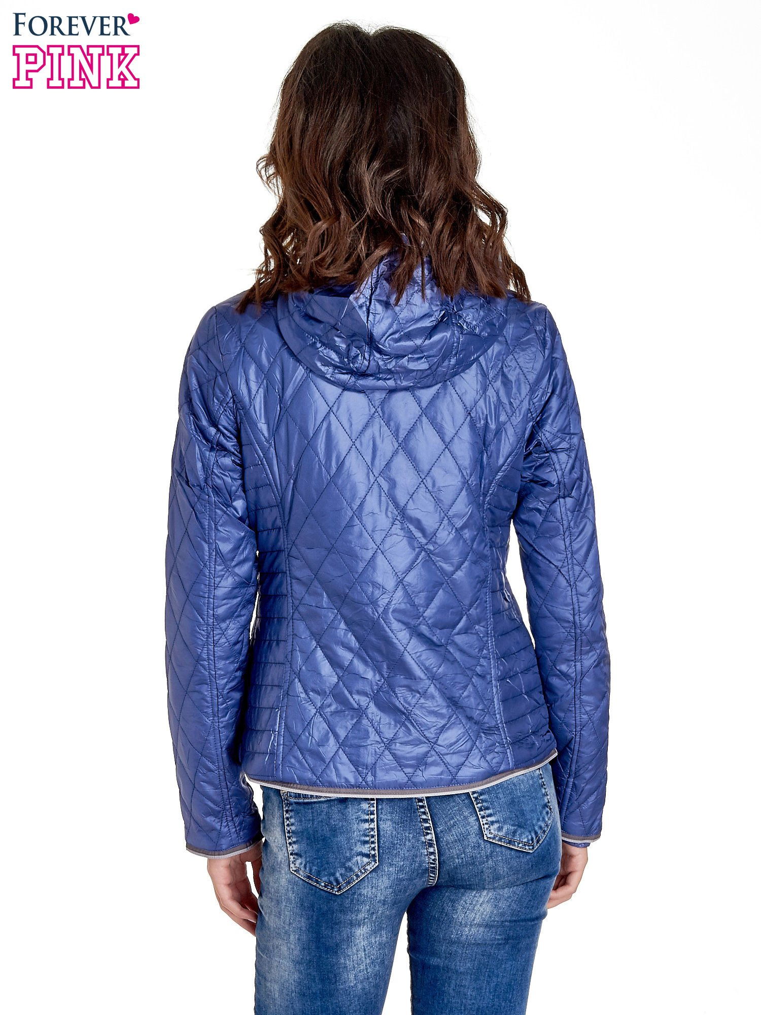 Niebieska pikowana kurtka typu husky                                  zdj.                                  6