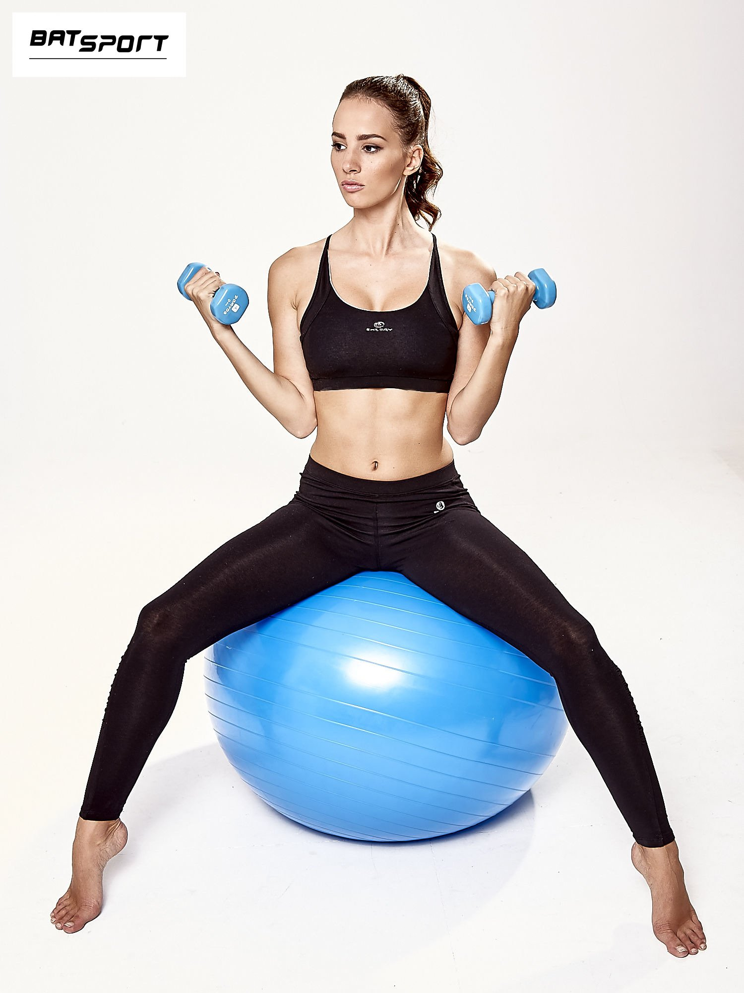 Niebieska średnia piłka fitness                                   zdj.                                  7