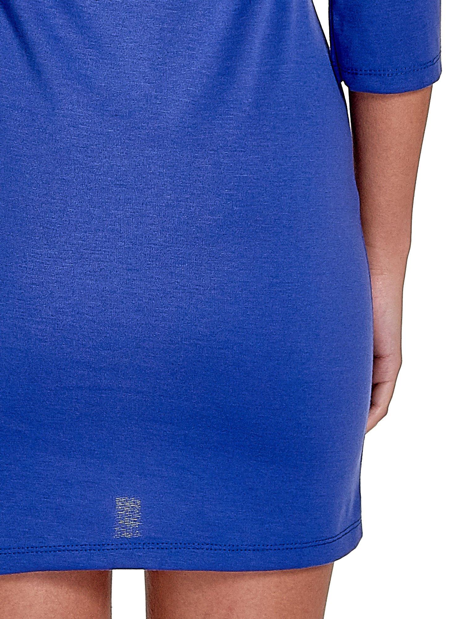 Niebieska sukienka z troczkami                                  zdj.                                  7