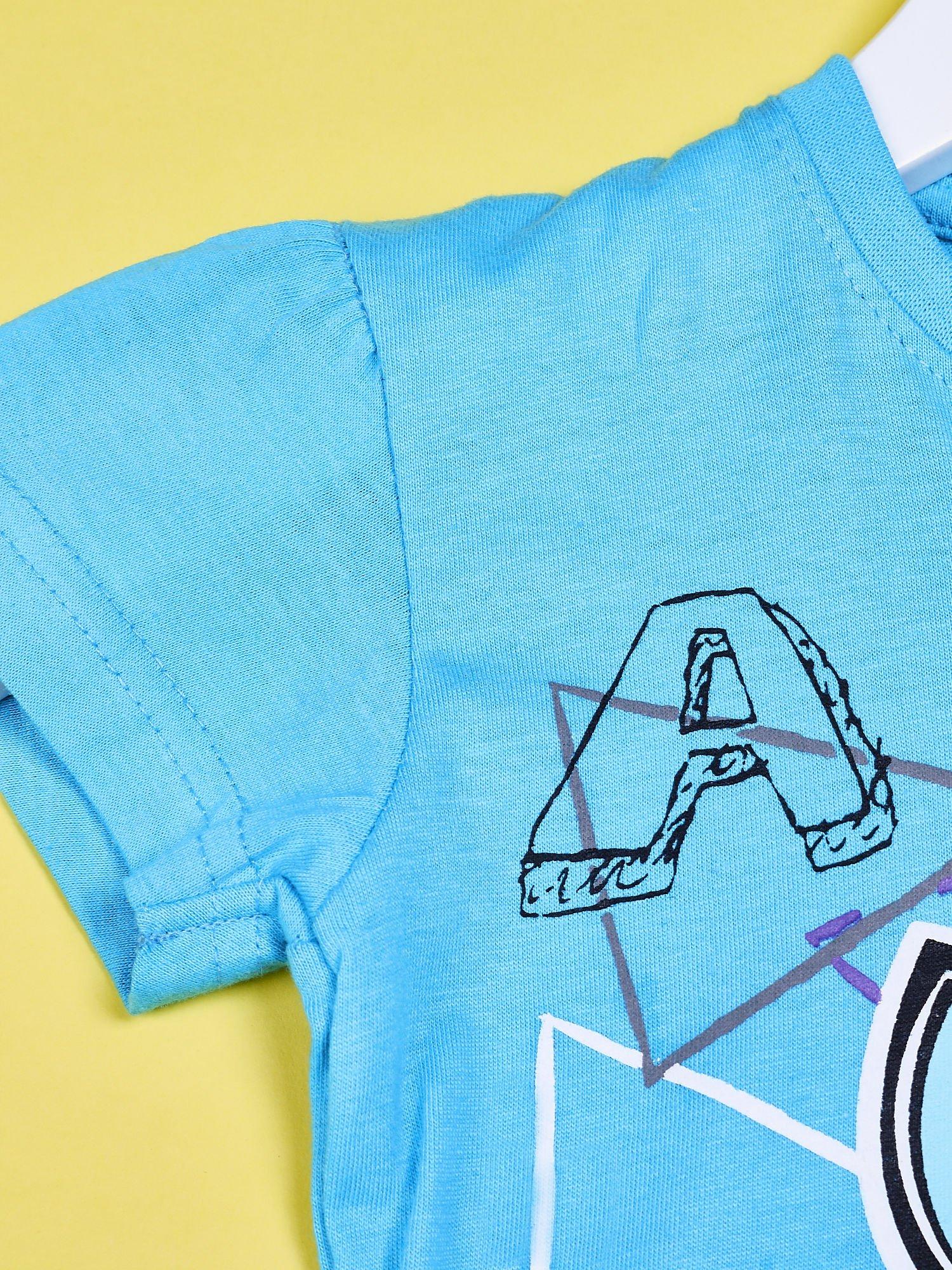 Niebieski chłopięcy t-shirt FURBY                                  zdj.                                  3