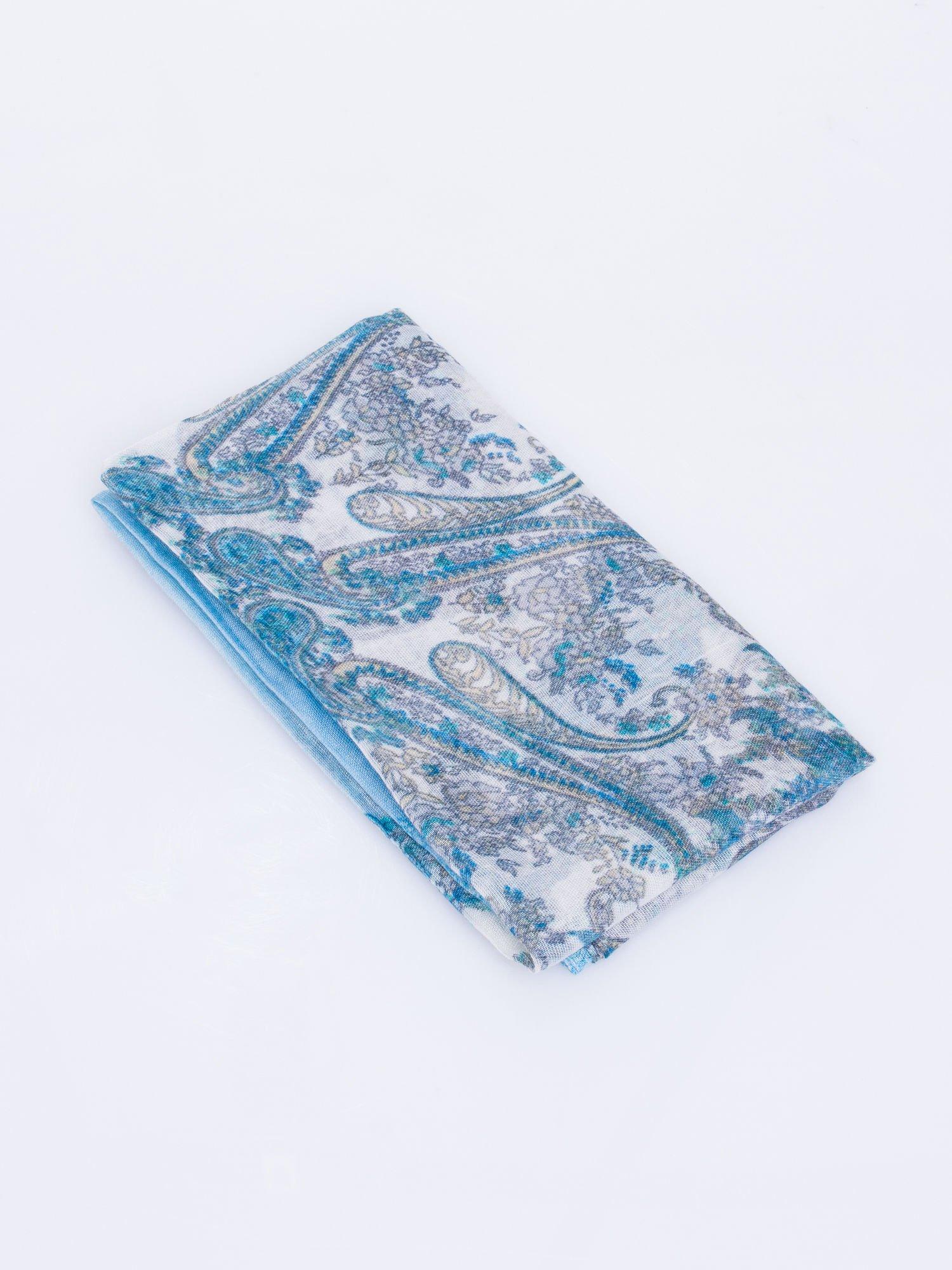 Niebieski komin w orientalny wzór paisley                                  zdj.                                  3