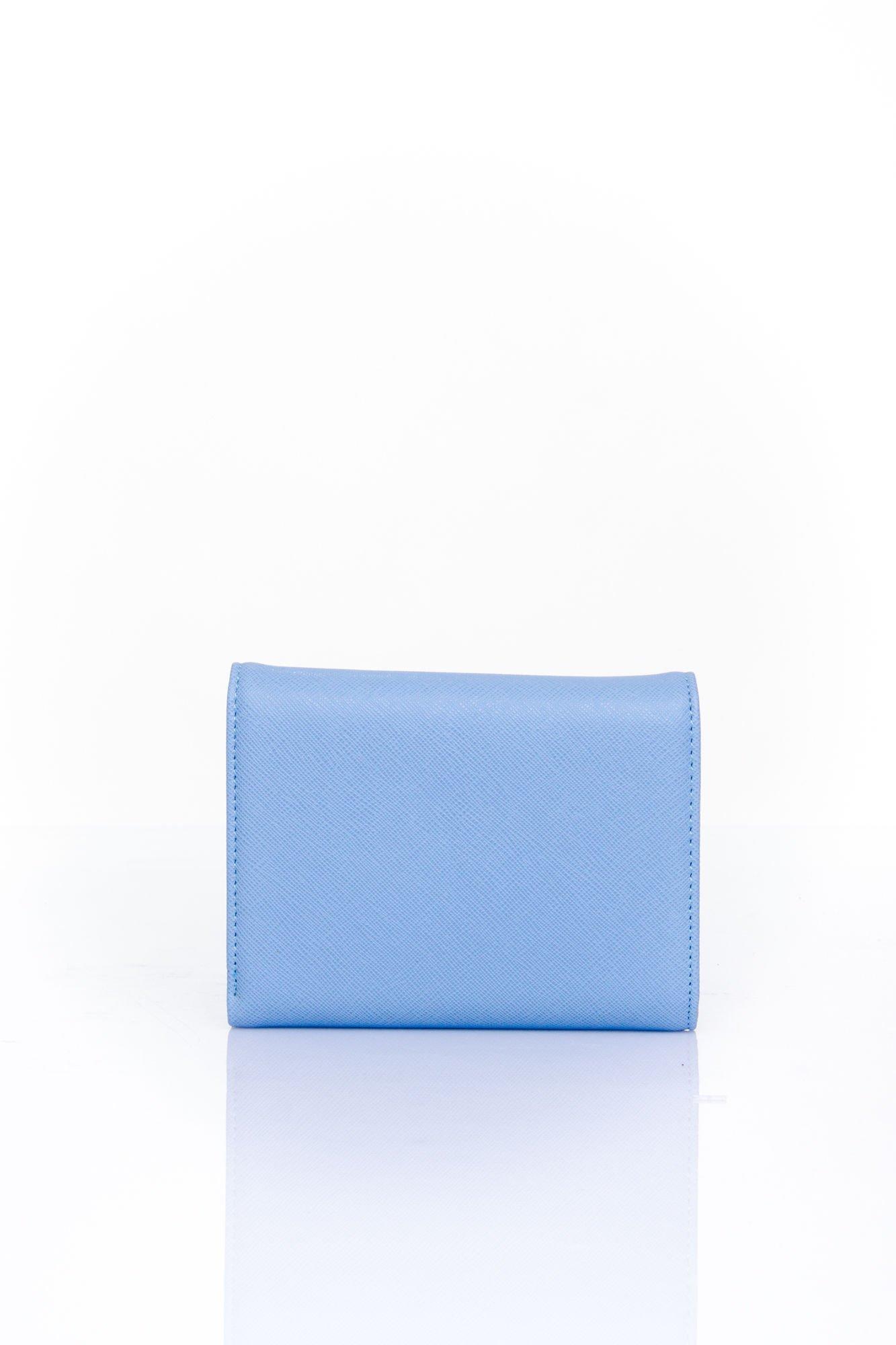 Niebieski portfel z kokardką                                  zdj.                                  2