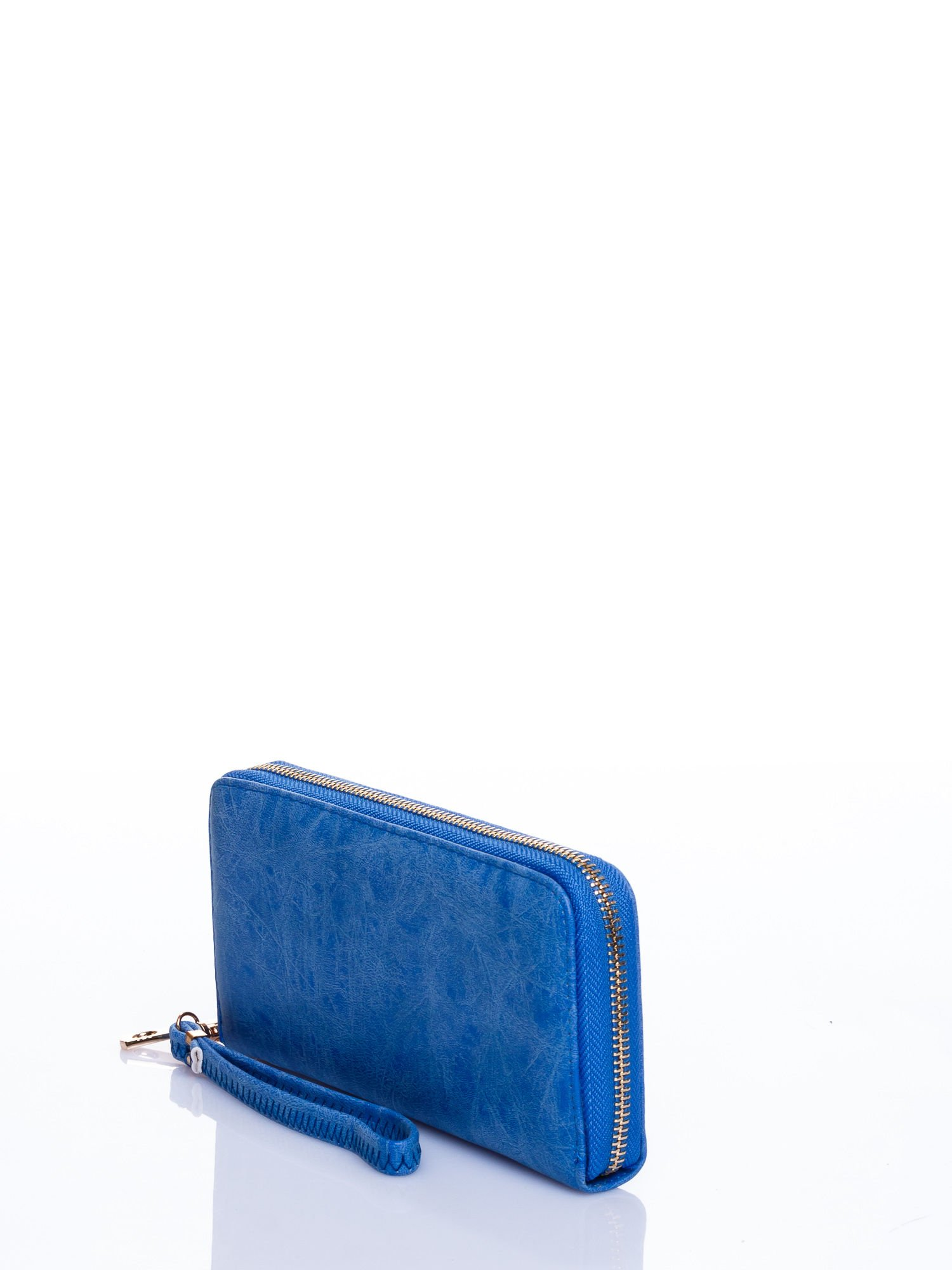 Niebieski portfel z rączką                                  zdj.                                  2