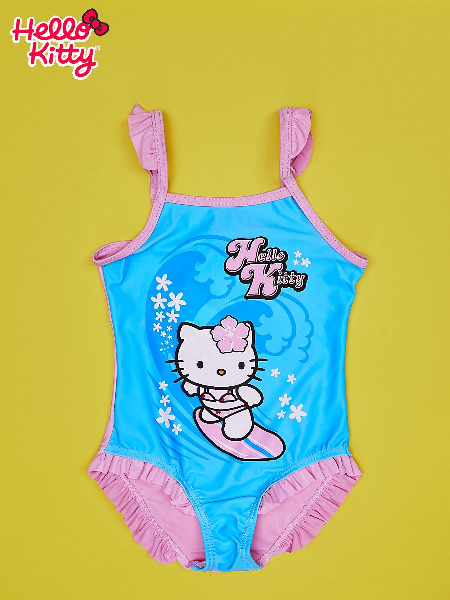 Niebieski strój kąpielowy dla dziewczynki HELLO KITTY                                  zdj.                                  1