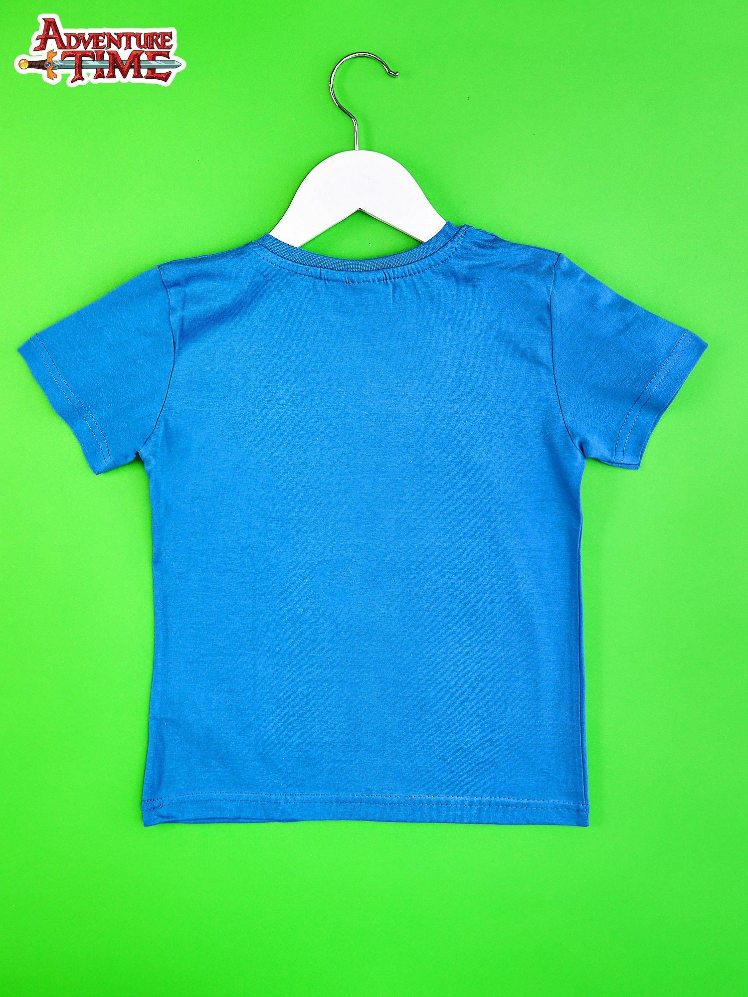 Niebieski t-shirt chłopięcy ADVENTURE TIME                                   zdj.                                  2