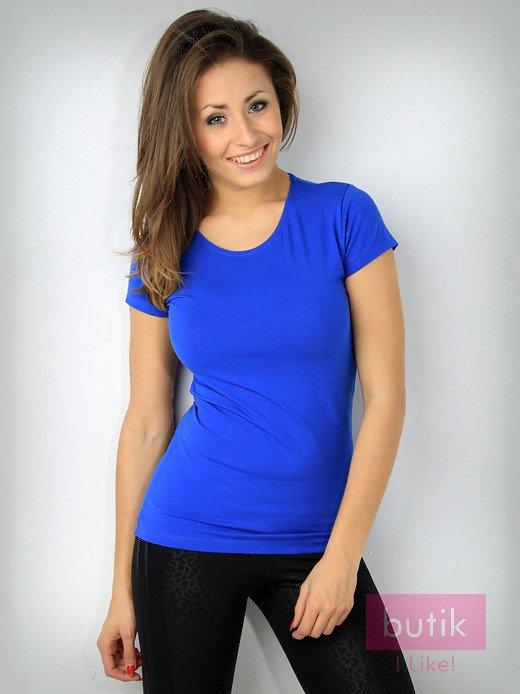 Niebieski t-shirt z bawełny For Fitness                                  zdj.                                  1