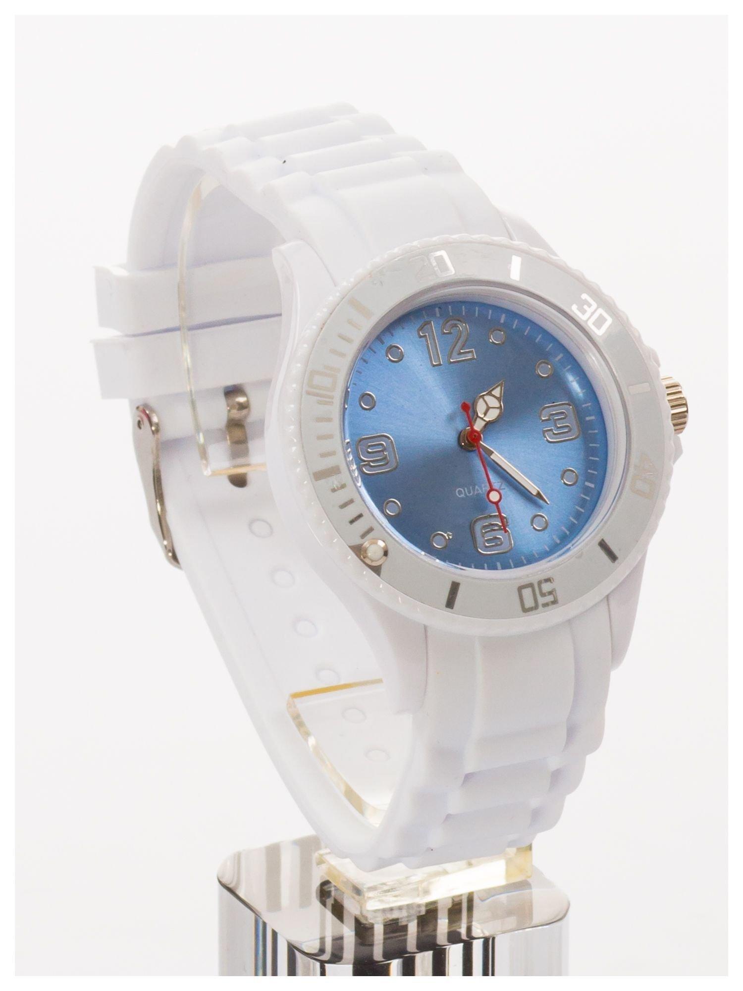 Niebieski zegarek damski na silikonowym pasku                                  zdj.                                  1
