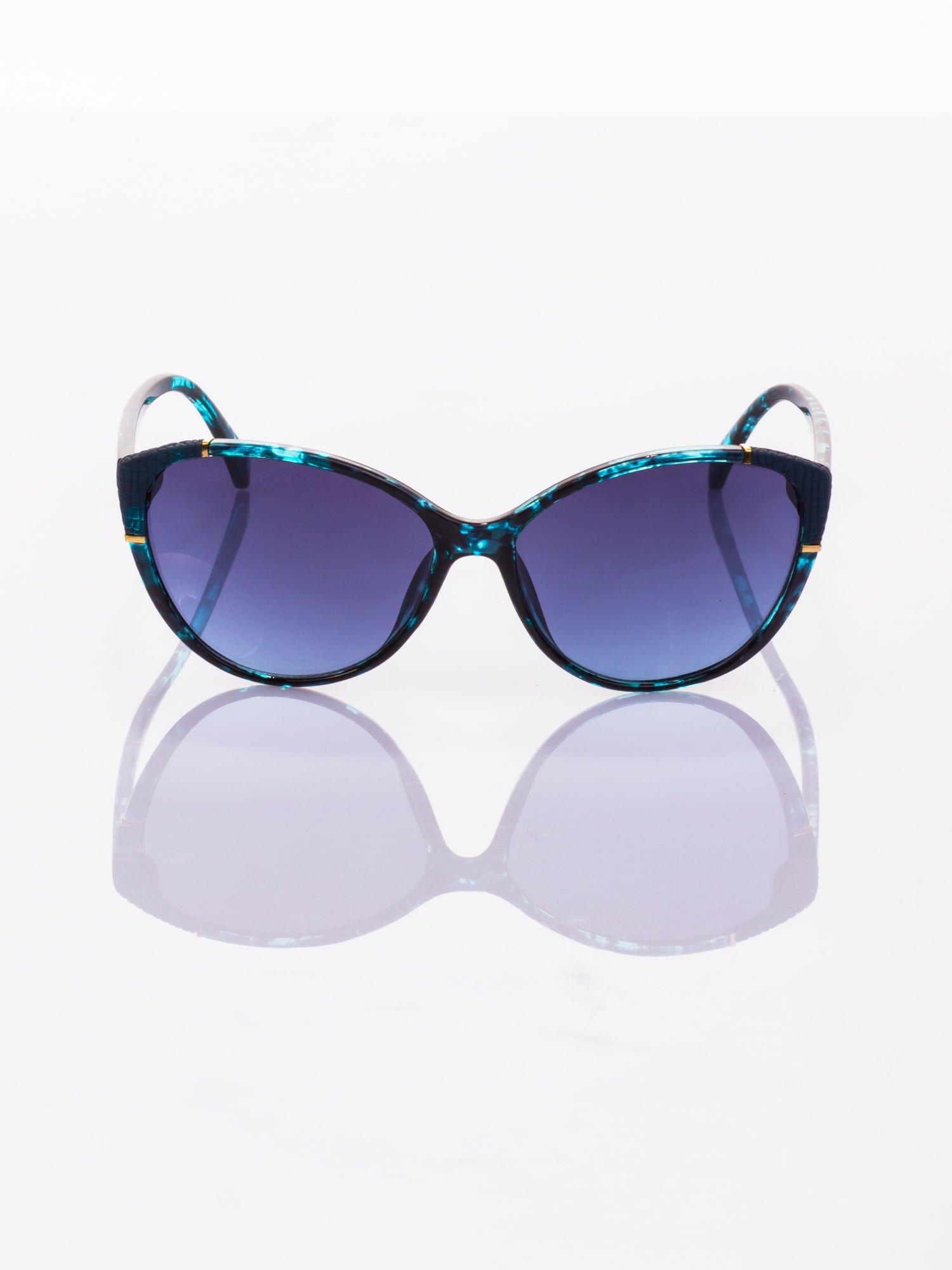 Niebieskie KOCIE OCZY Okulary przeciwsłoneczne                                   zdj.                                  2