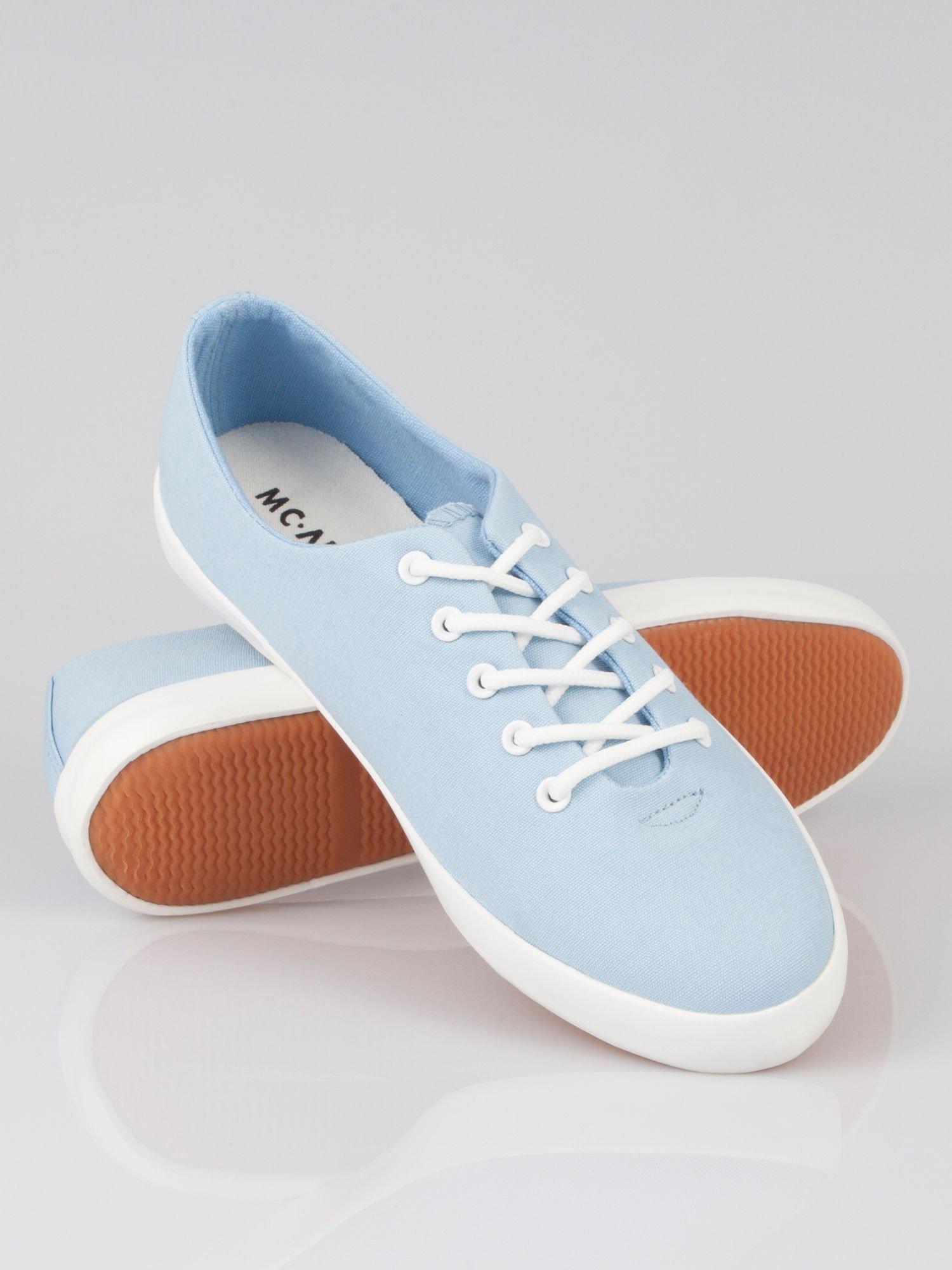 Niebieskie klasyczne tenisówki Blue Sky                                  zdj.                                  3
