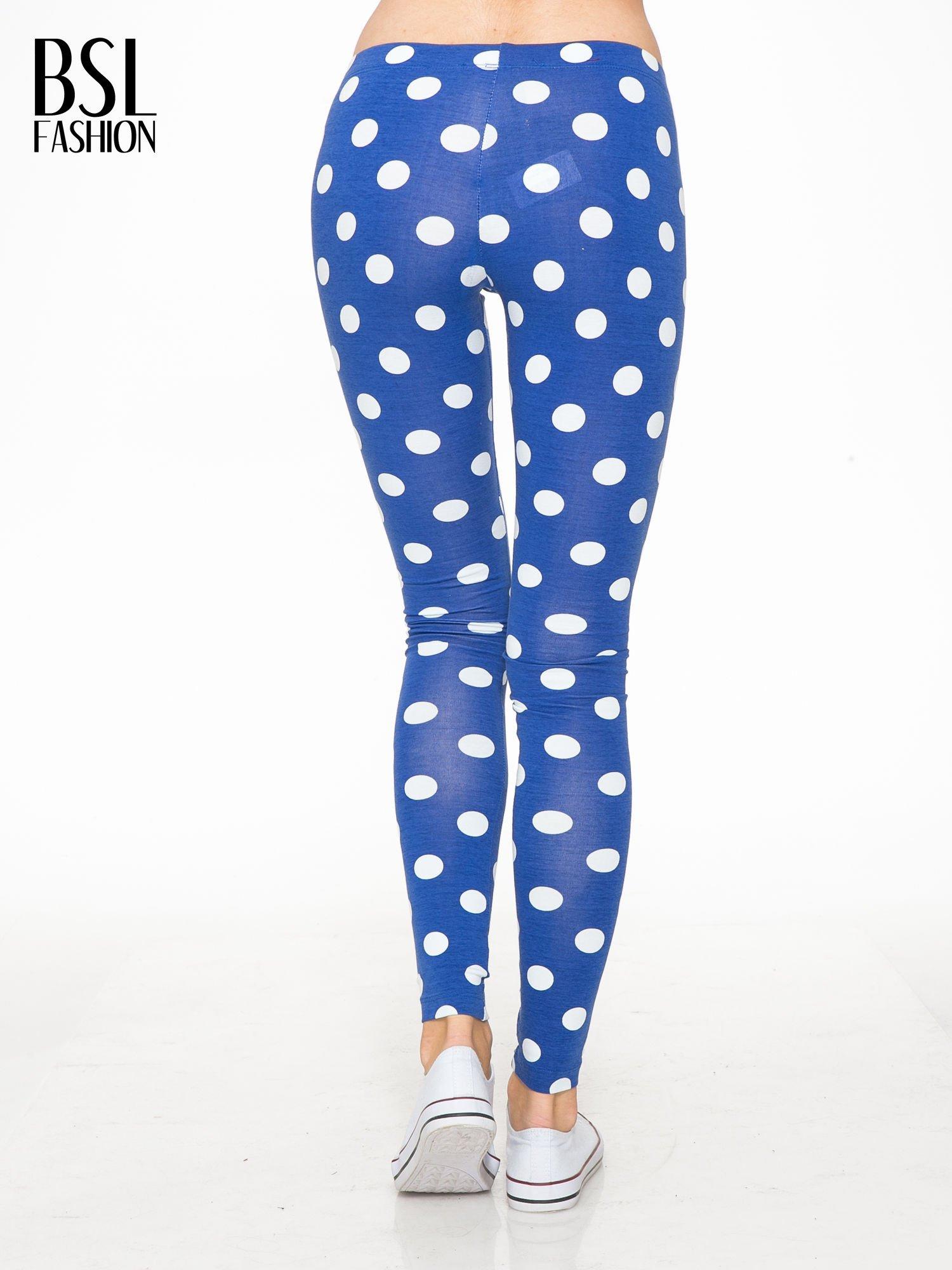 Niebieskie legginsy w grochy                                  zdj.                                  4
