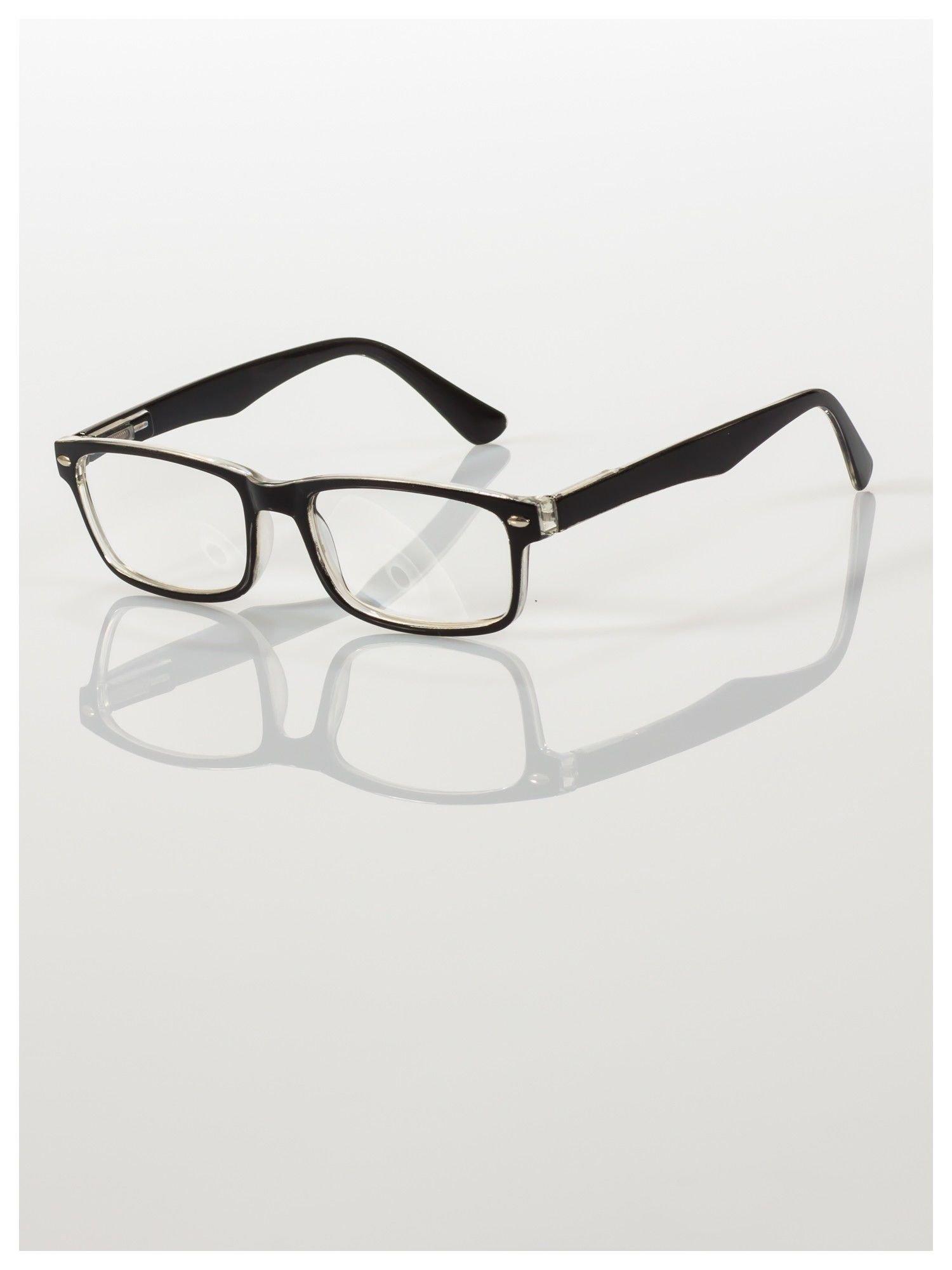 Okulary korekcyjne +3.0 D ,model WAYFARER do czytania z systemem FLEX na zausznikach +GRATIS PLASTIKOWE ETUI I ŚCIERECZKA Z MIKROFIBRY                                  zdj.                                  2