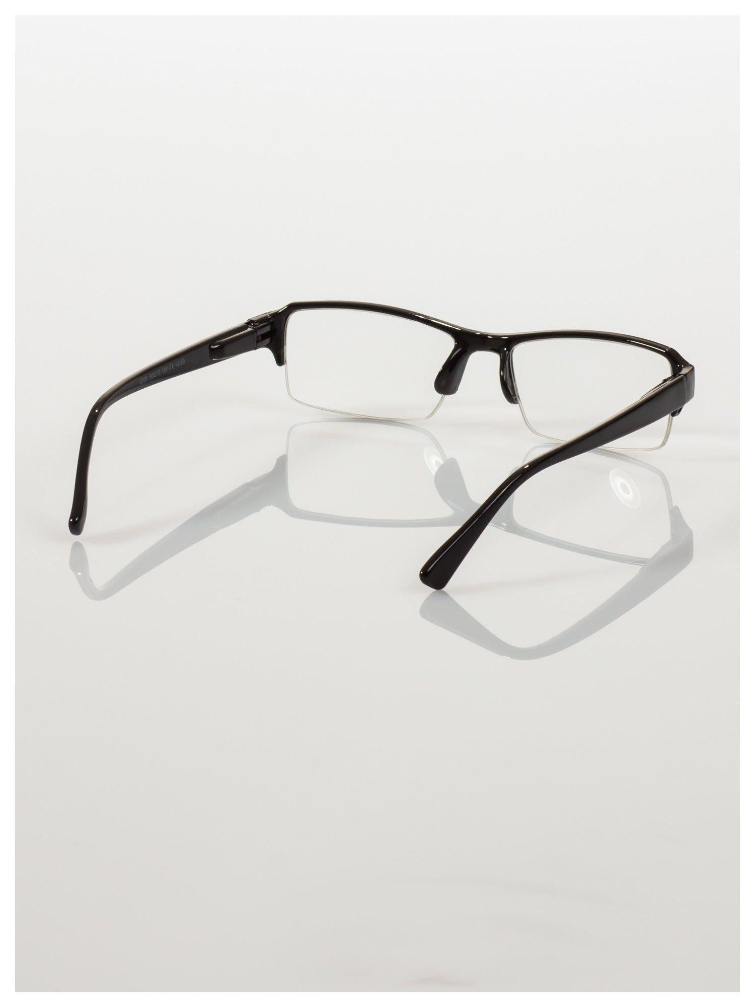 Okulary korekcyjne +3.5 D do czytania z systemem FLEX na zausznikach +GRATIS PLASTIKOWE ETUI I ŚCIERECZKA Z MIKROFIBRY                                  zdj.                                  4
