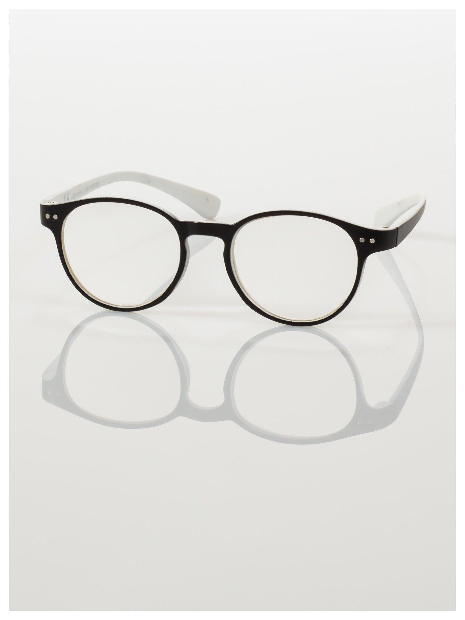 Okulary korekcyjne  +3.5 D dwukolorowe ,do czytania, stylizowane na RAY BAN +GRATIS PLASTIKOWE ETUI I ŚCIERECZKA Z MIKROFIBRY                                  zdj.                                  2