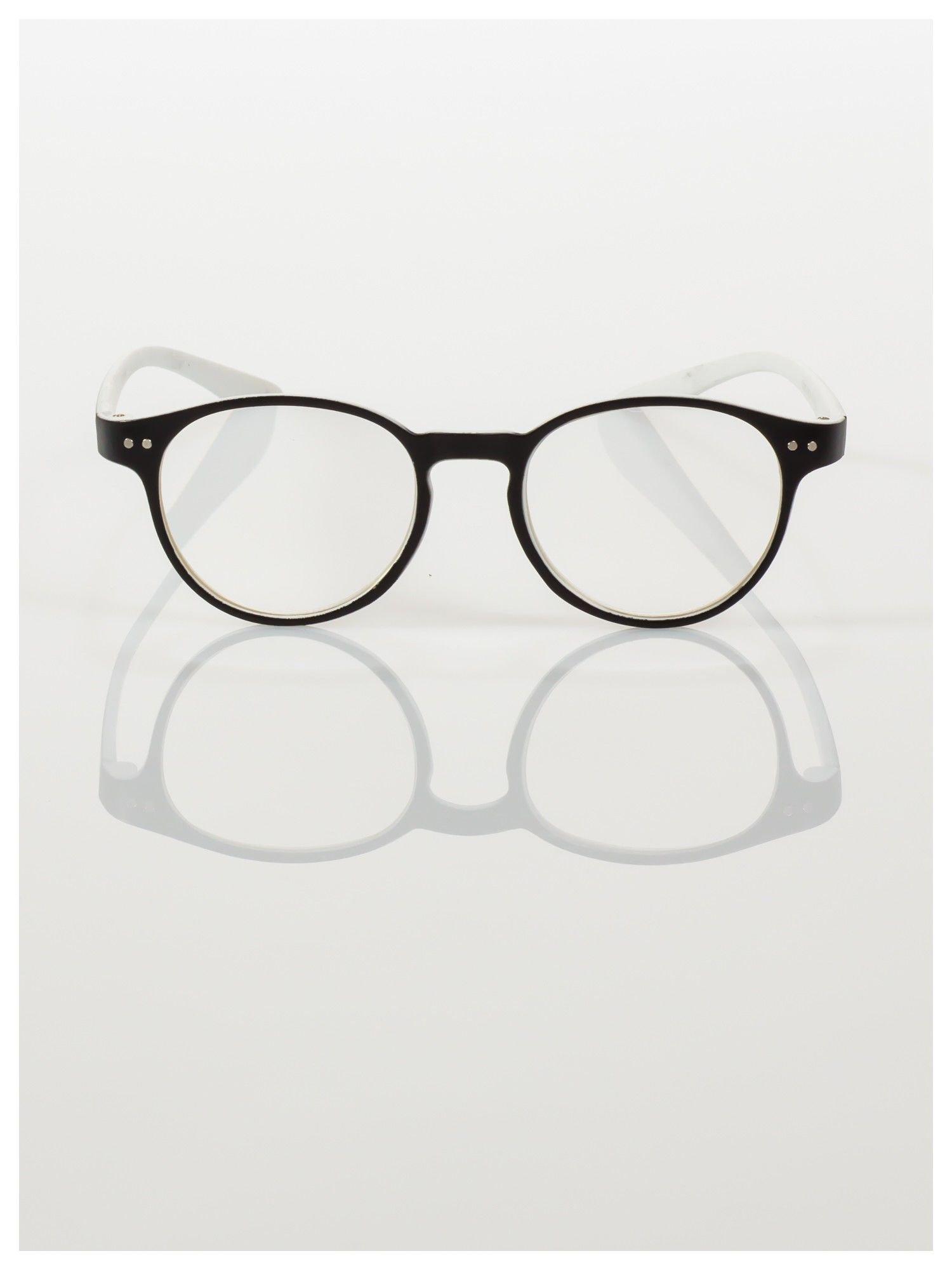 Okulary korekcyjne  +3.5 D dwukolorowe ,do czytania, stylizowane na RAY BAN +GRATIS PLASTIKOWE ETUI I ŚCIERECZKA Z MIKROFIBRY                                  zdj.                                  3