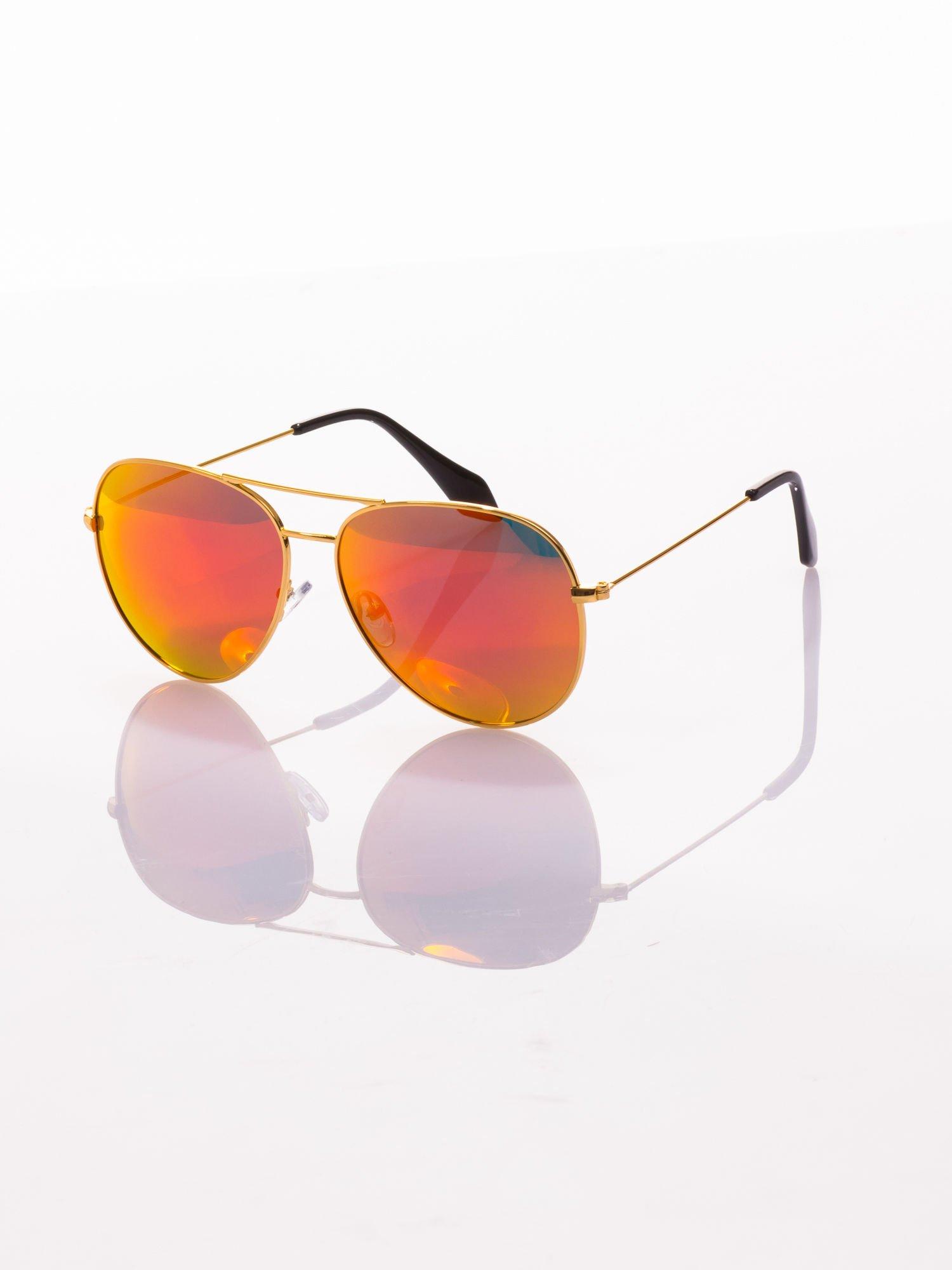 Okulary przeciwsłoneczne z POLARYZACJĄ typu AVIATOR LUSTRZANKA                                  zdj.                                  2