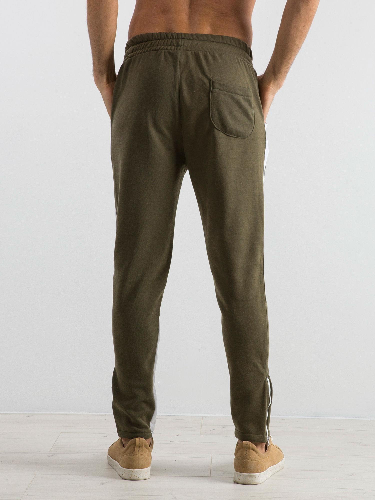 8c746beaa2db9 Oliwkowe spodnie dresowe męskie Durable - Mężczyźni Spodnie dresowe ...