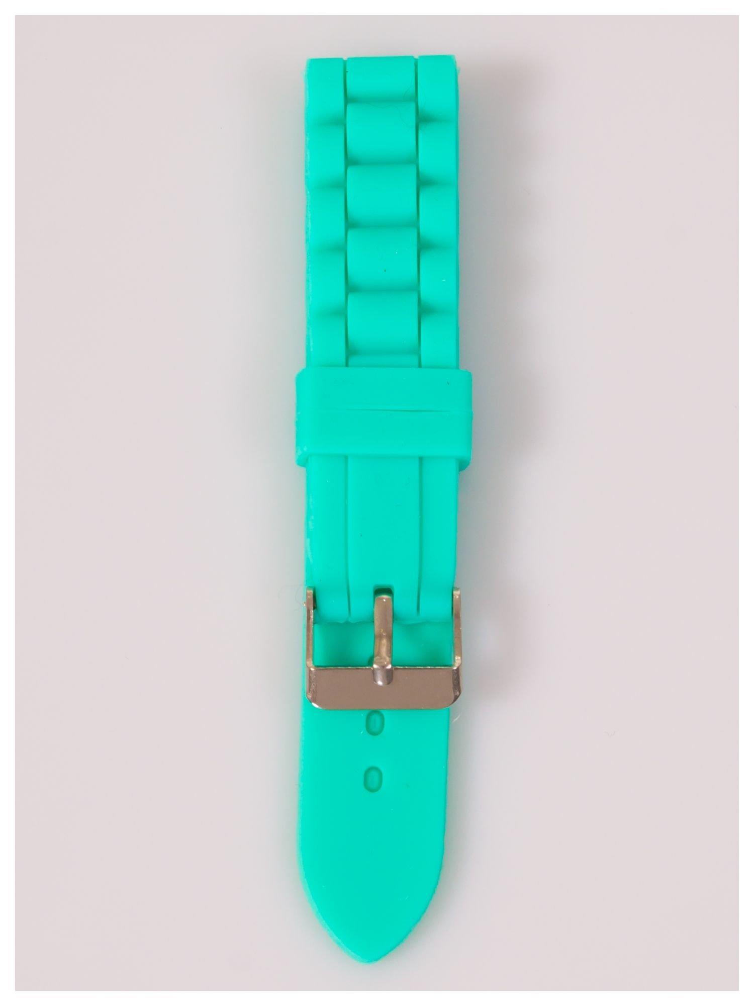 Pasek silikonowy do zegarka 20 mm - miętowy                                  zdj.                                  1