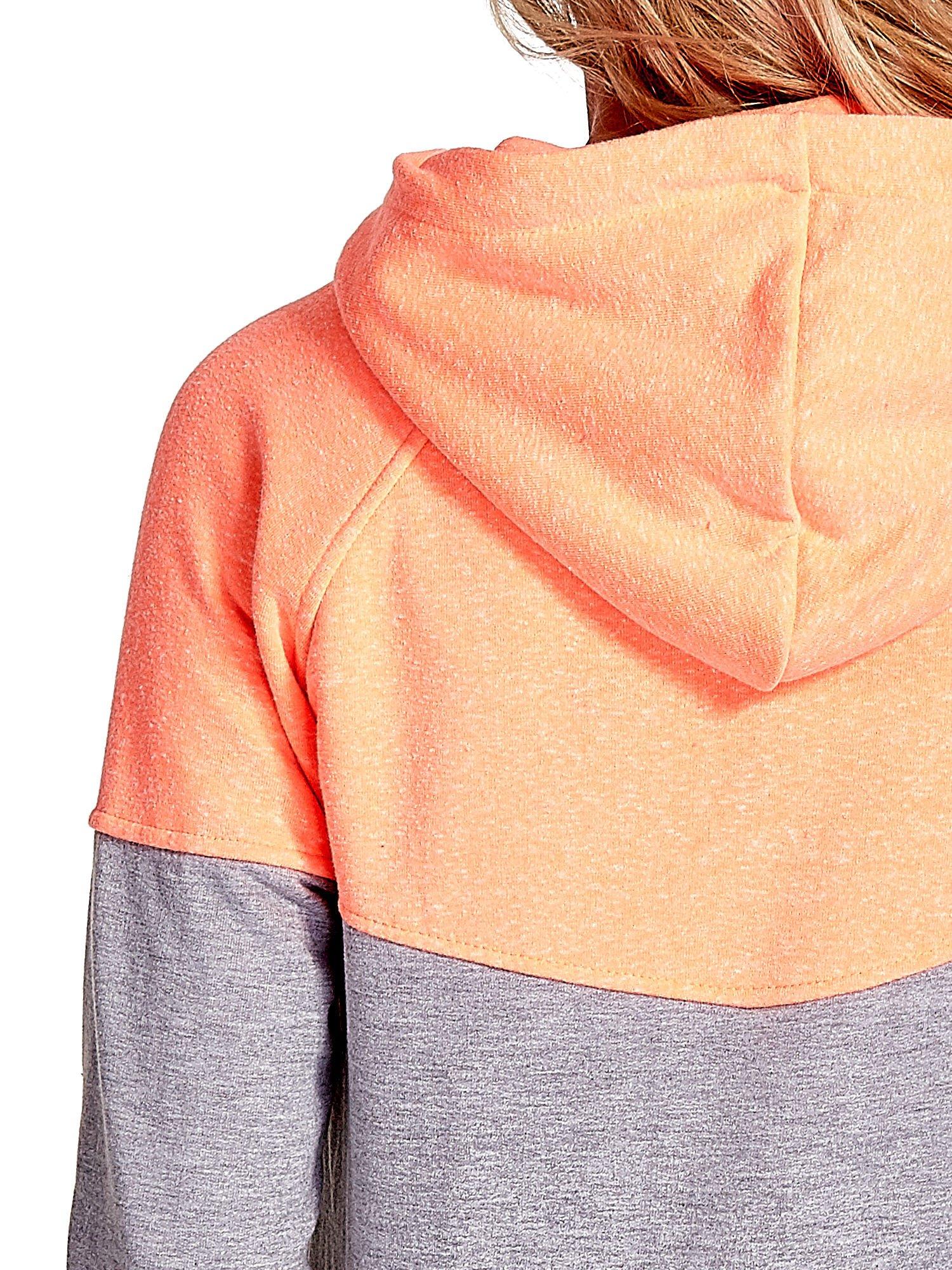 Pomarańczowa bluza z szarym pasem                                  zdj.                                  9