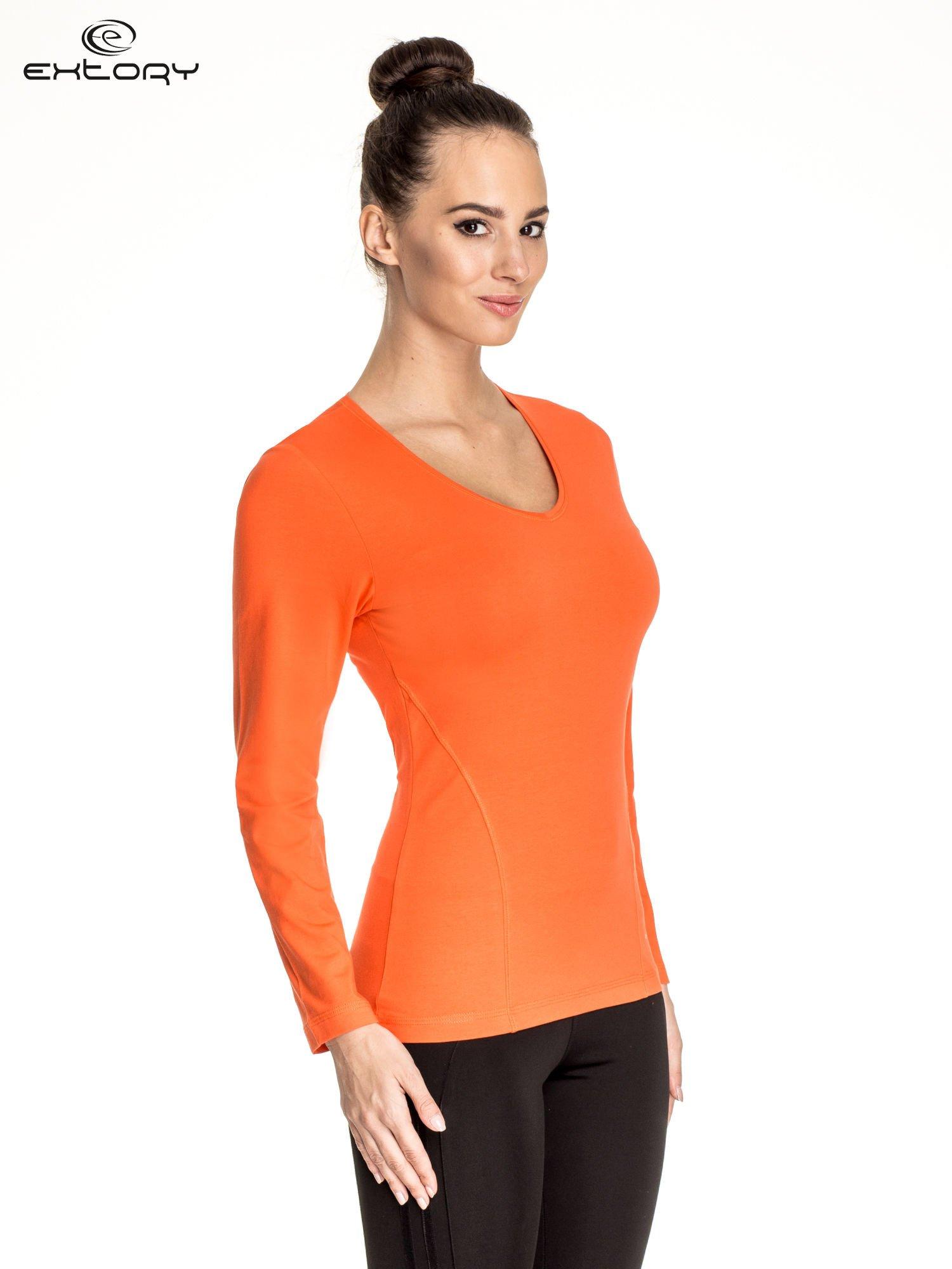 Pomarańczowa bluzka sportowa basic PLUS SIZE                                  zdj.                                  3