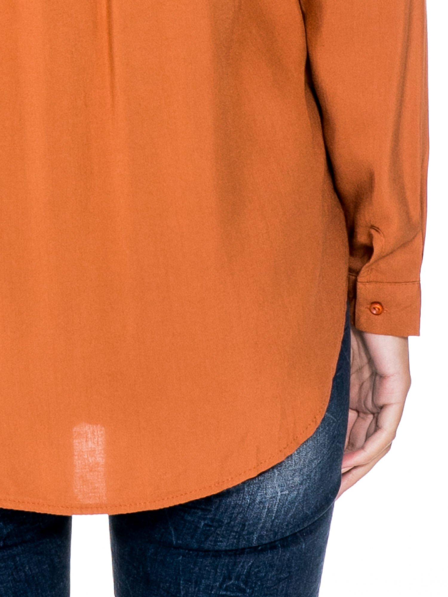 Pomarańczowa koszula z biżuteryjną kieszonką                                  zdj.                                  8