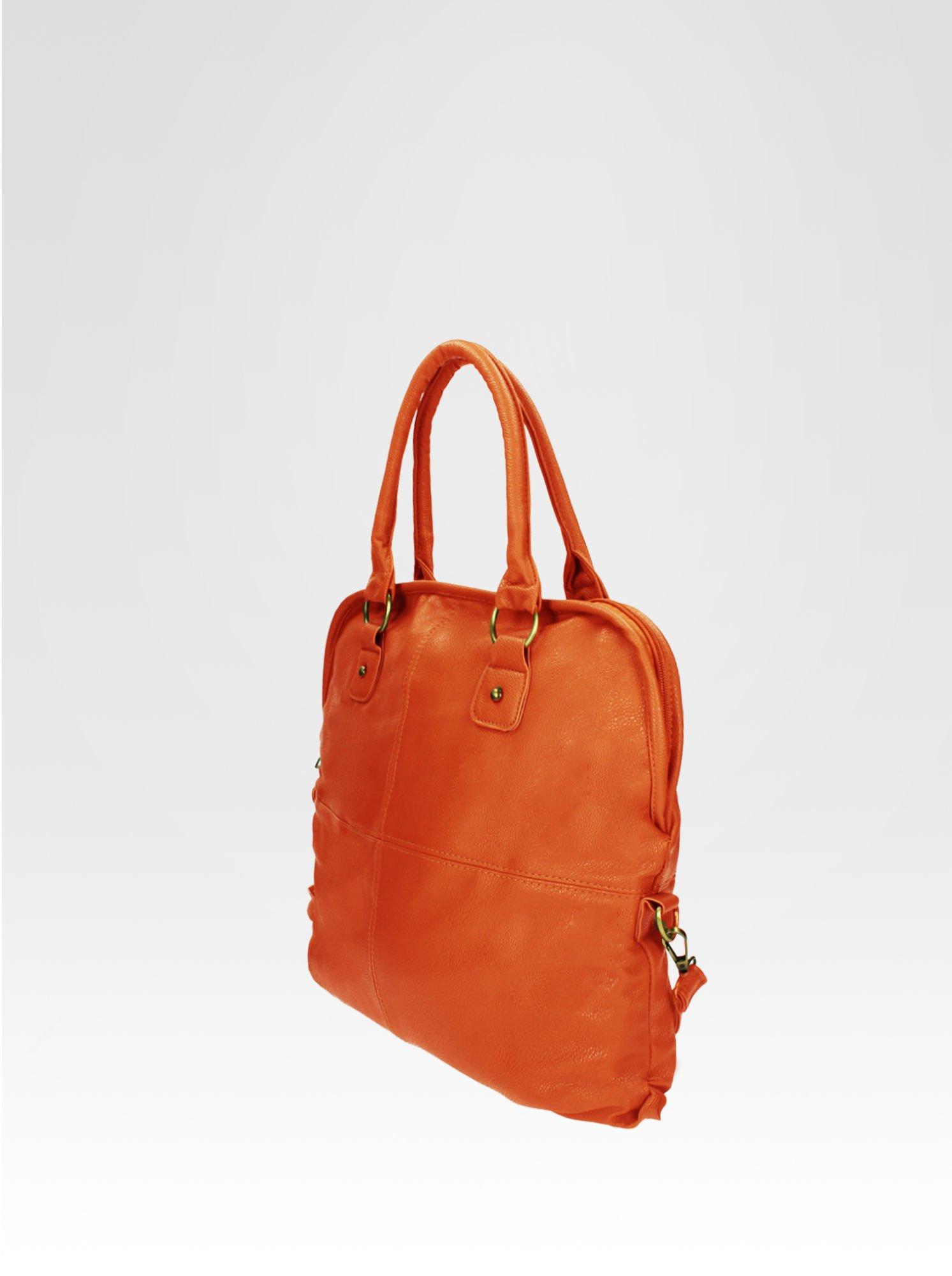 Pomarańczowa torba miejska na ramię                                  zdj.                                  3