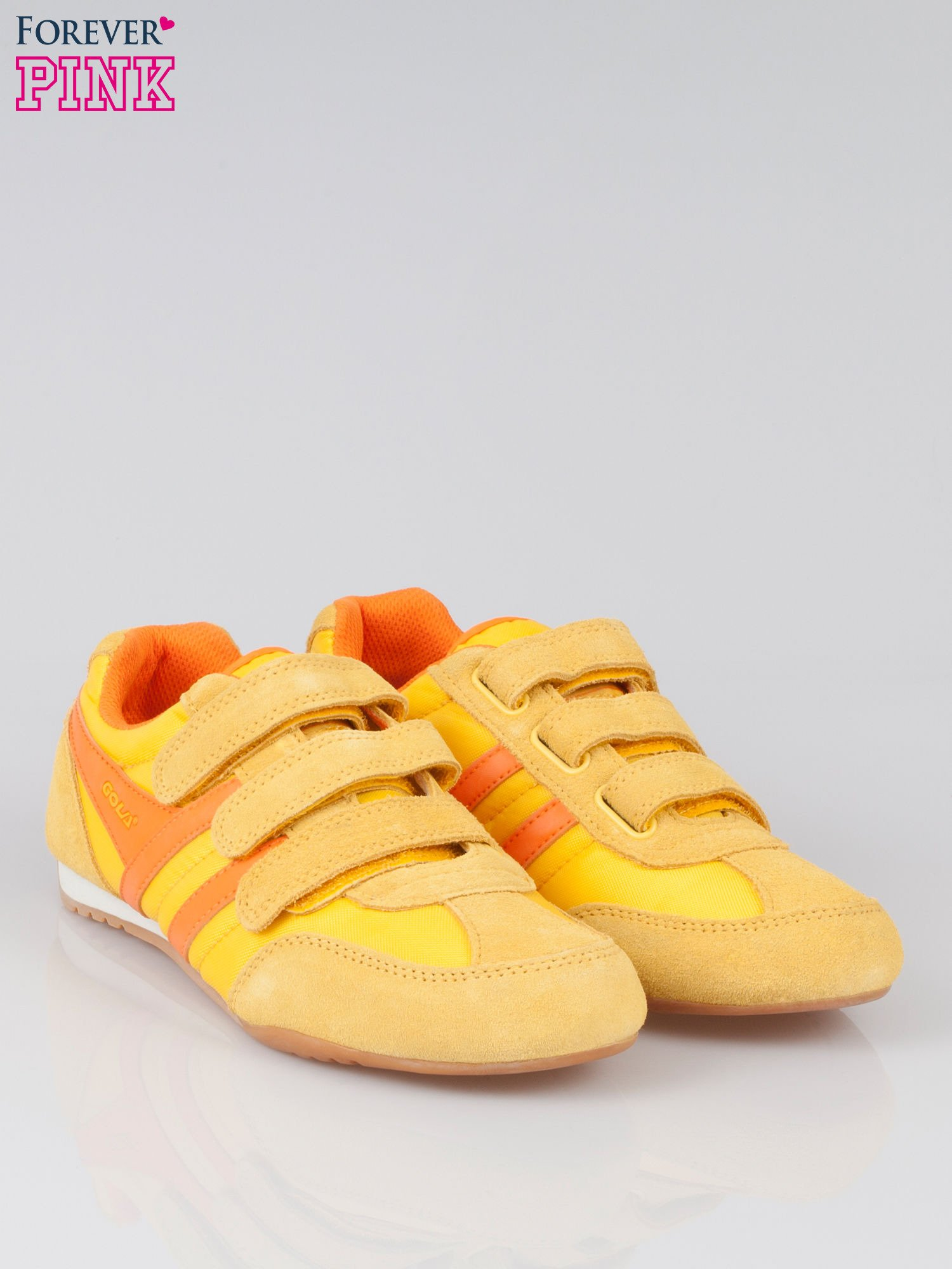 Pomarańczowe buty sportwe textile Sunrise na rzepy                                  zdj.                                  2